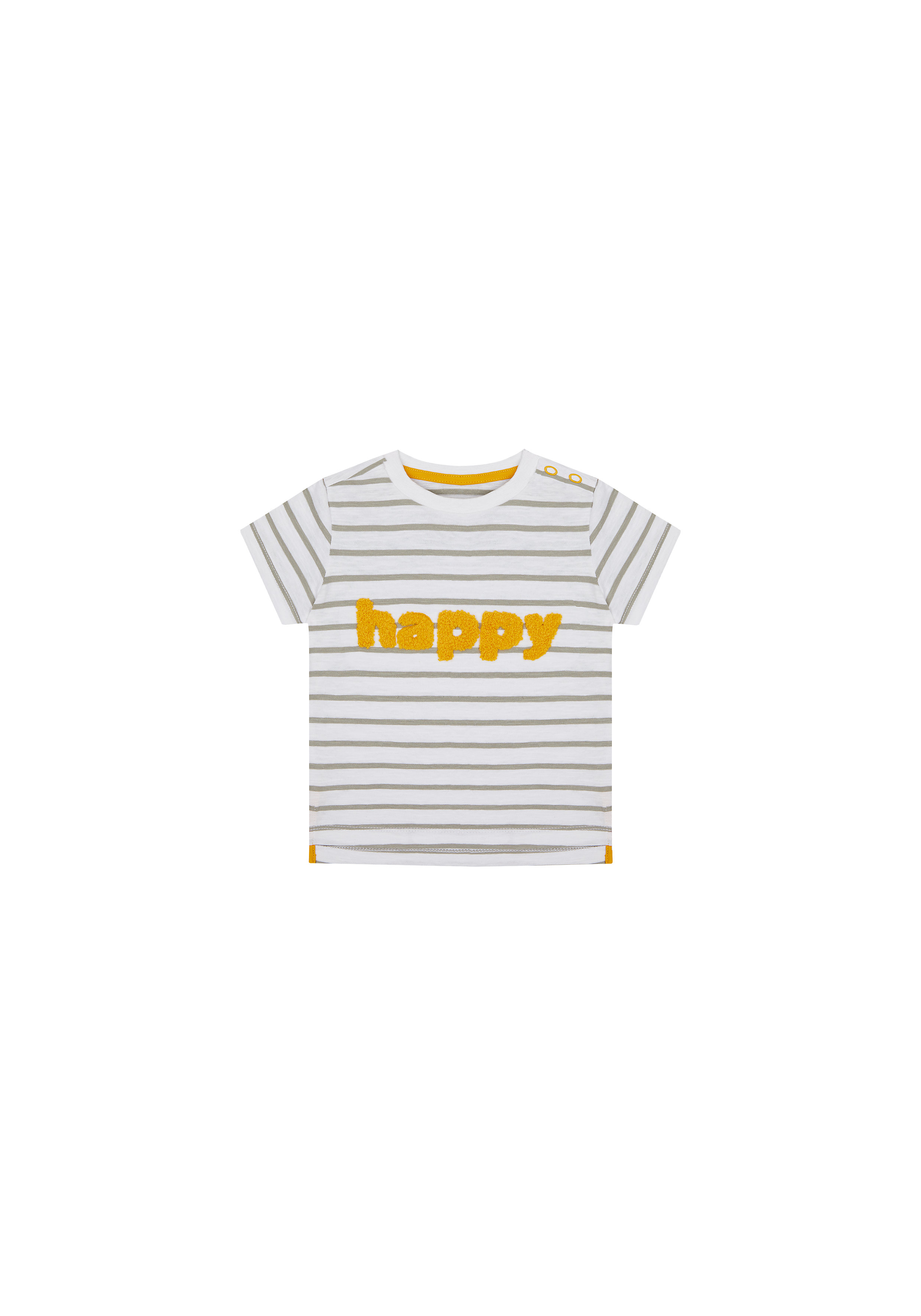 Mothercare   Boys Half Sleeves T-Shirt Text Patchwork - White