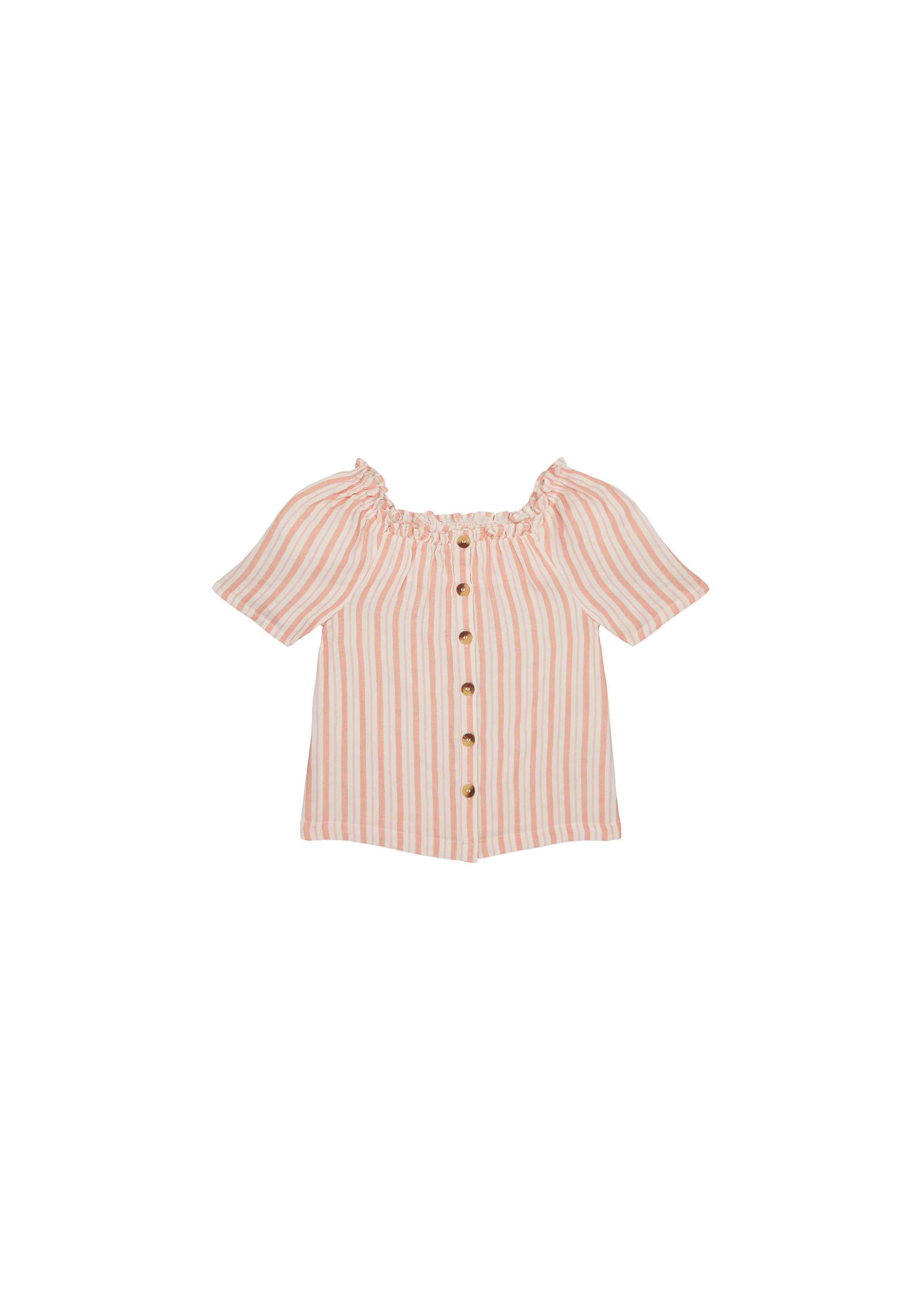 Mothercare | Girls Half Sleeves Top Striped - Multicolor