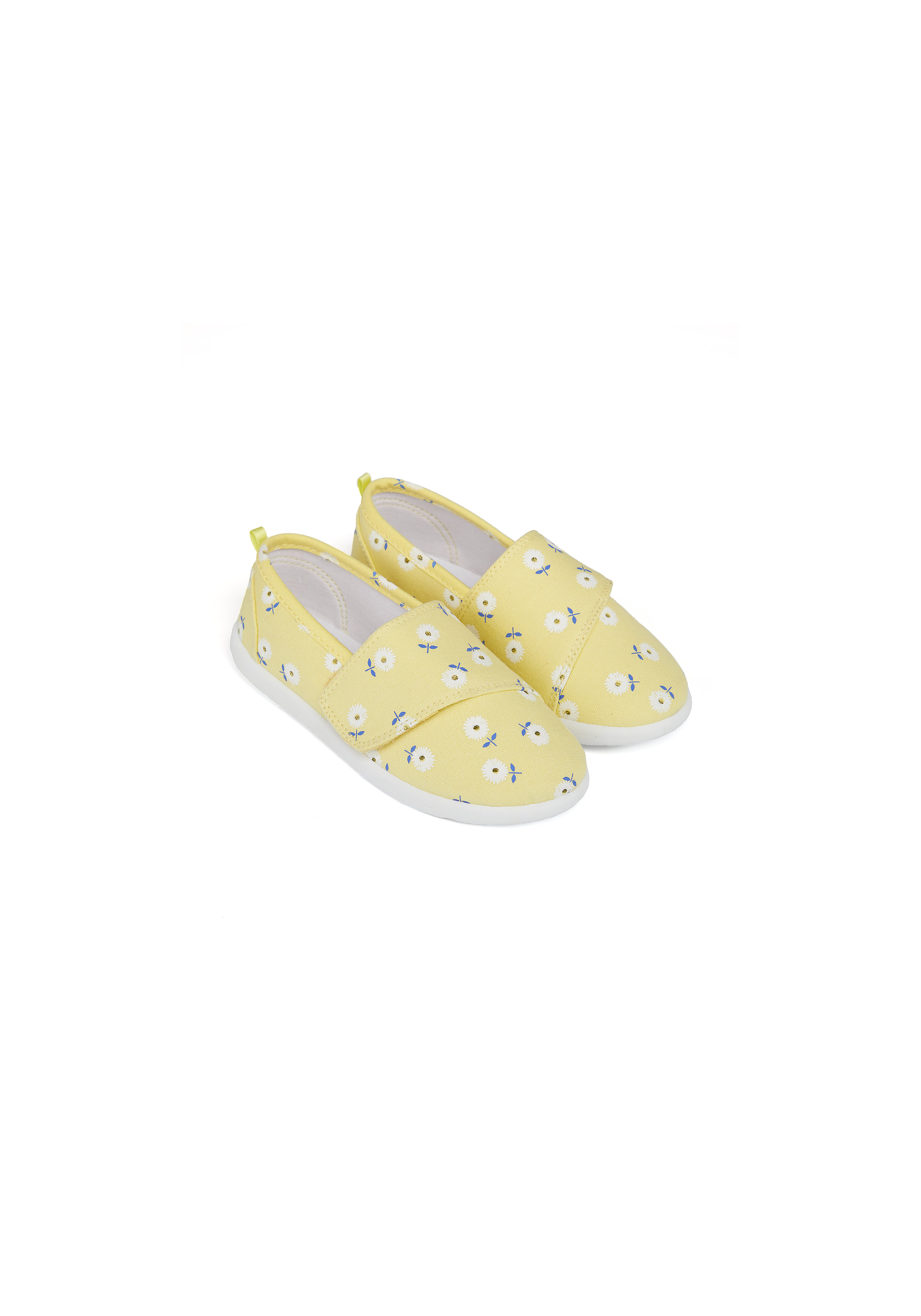 Mothercare | Girls Canvas Shoes Floral Print - Yellow