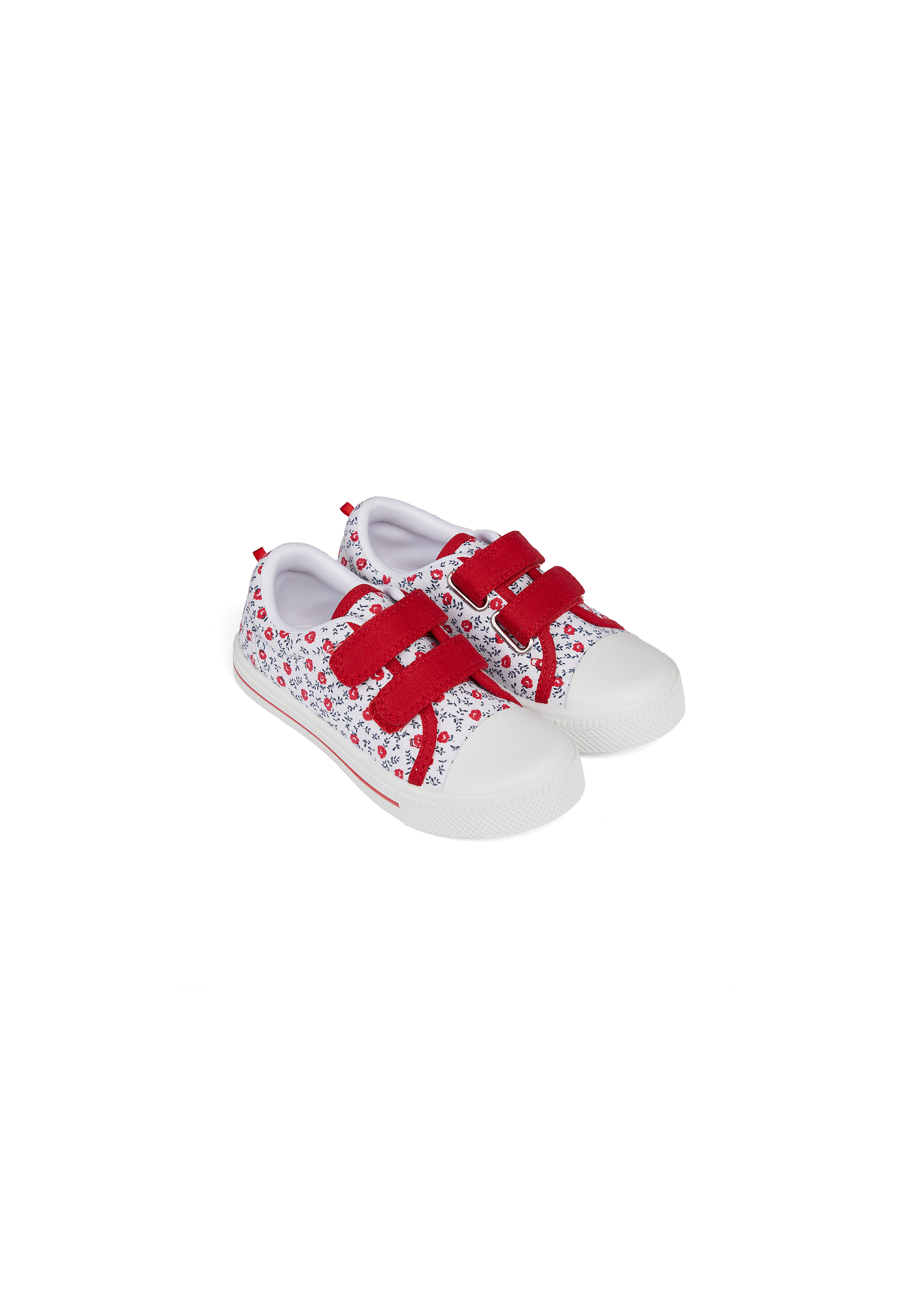 Mothercare | Girls Canvas Shoes Floral Print - Red