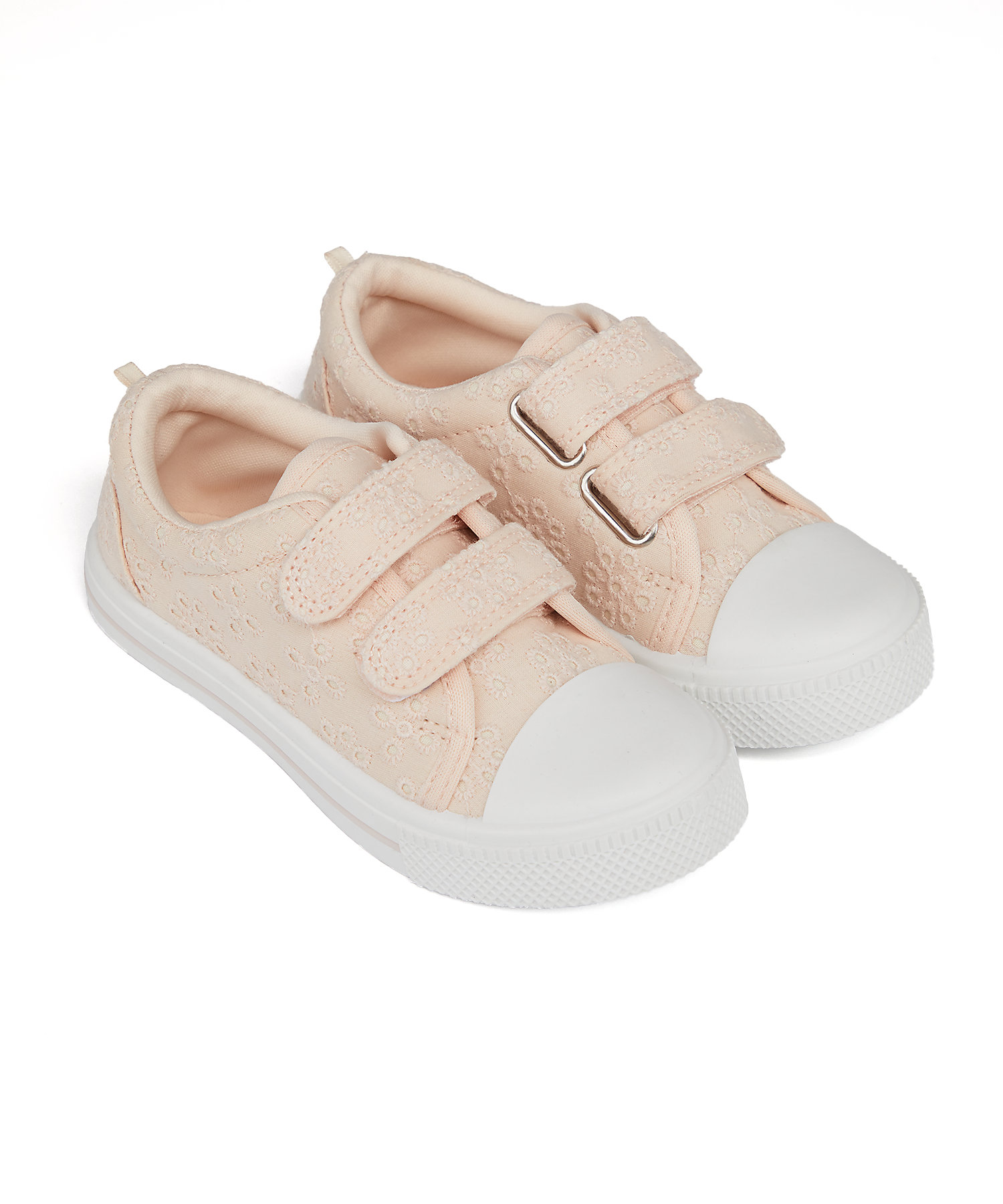 Mothercare | Girls Canvas Shoes Embroidered - Pink
