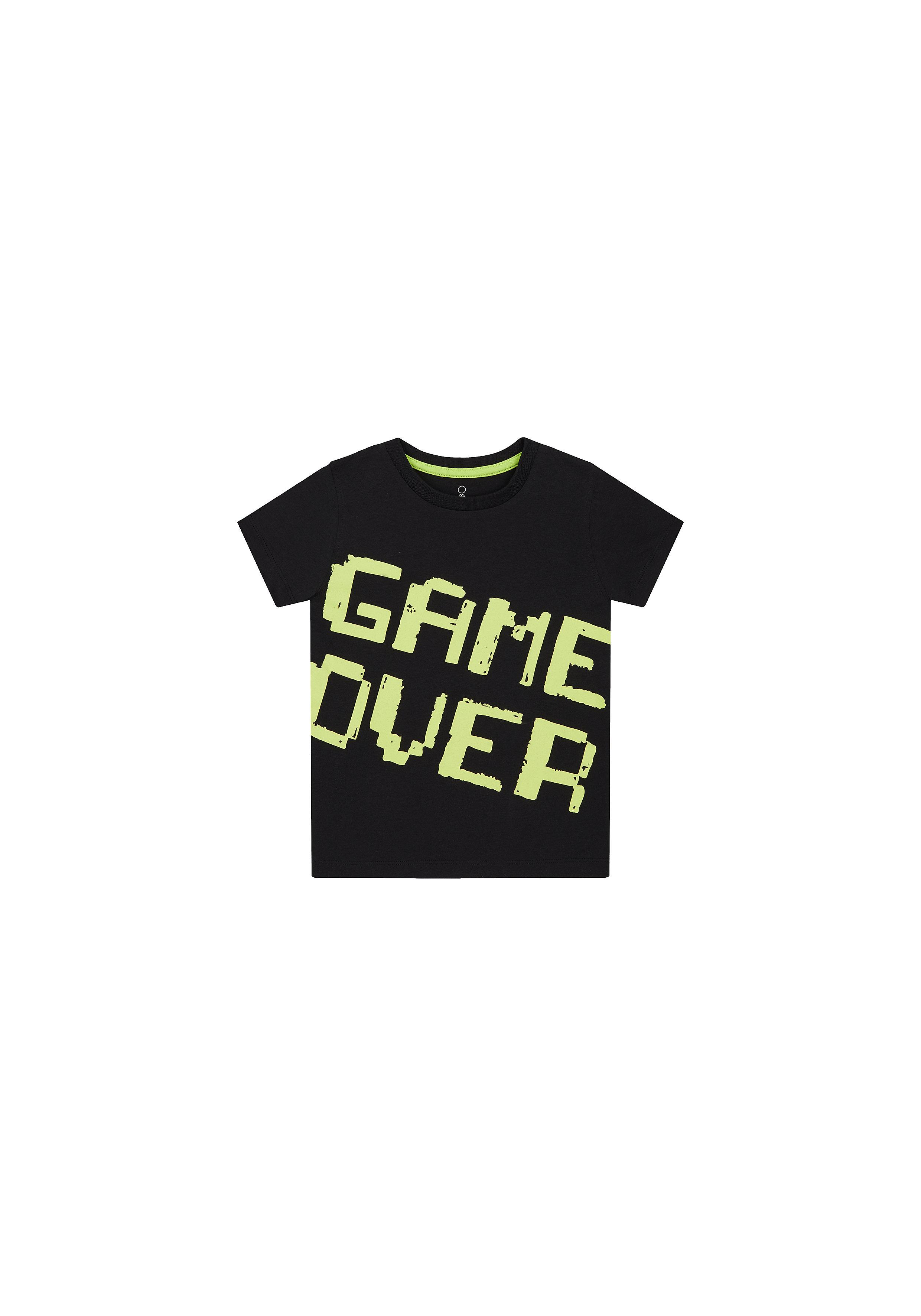 Mothercare | Boys Half Sleeves T-Shirt Text Print - Black