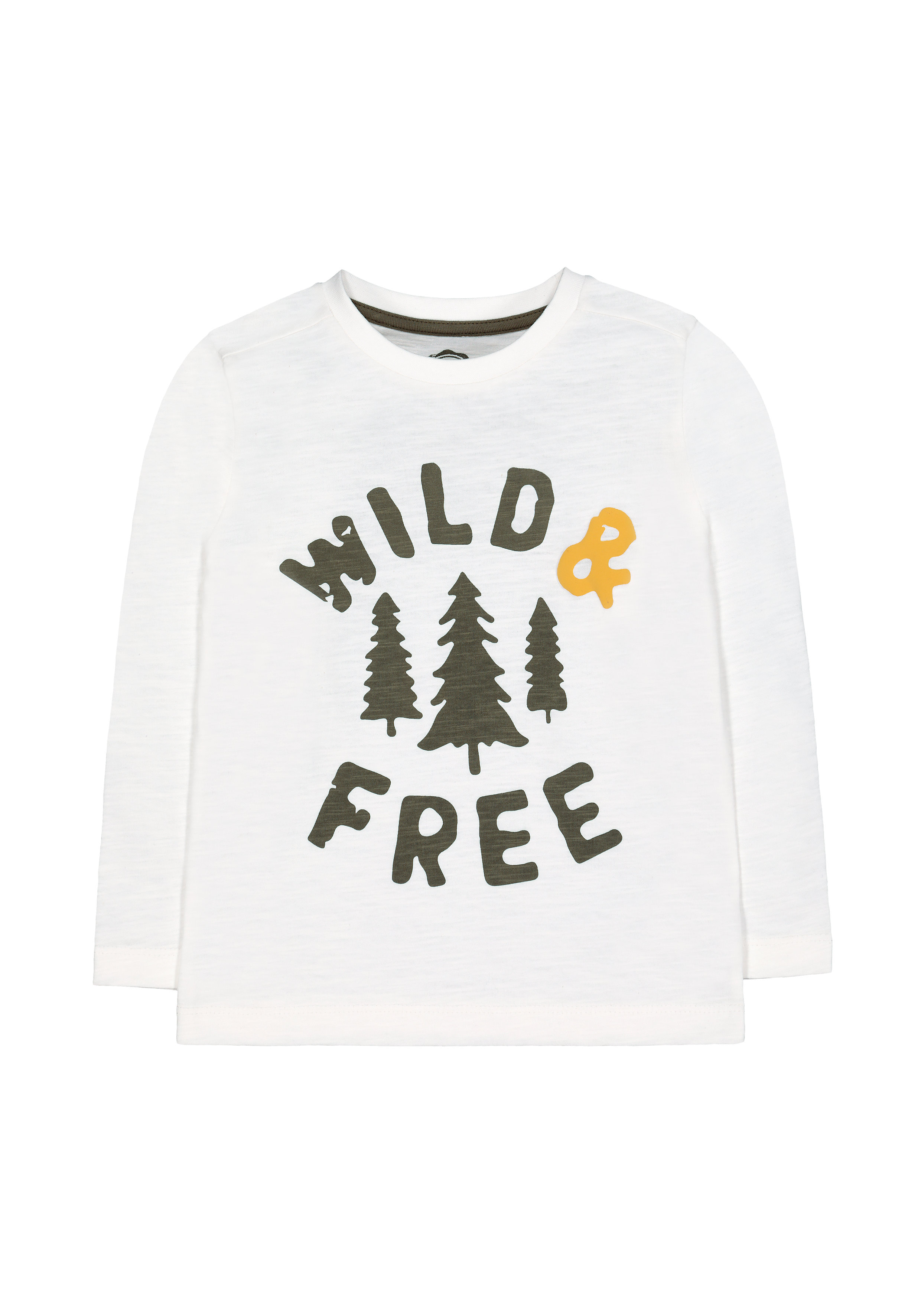 Mothercare | Boys Full Sleeves T-Shirt Slogan Print - White