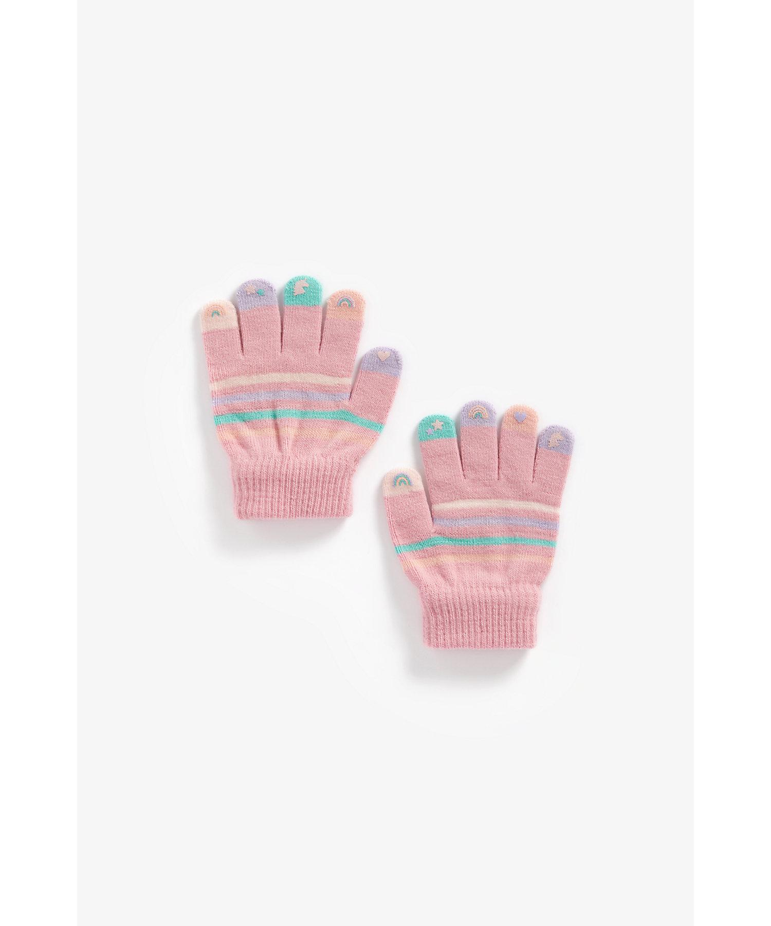 Mothercare | Unisex Full Sleeves Pyjama Set Animal Print - Pack Of 2 - Cream