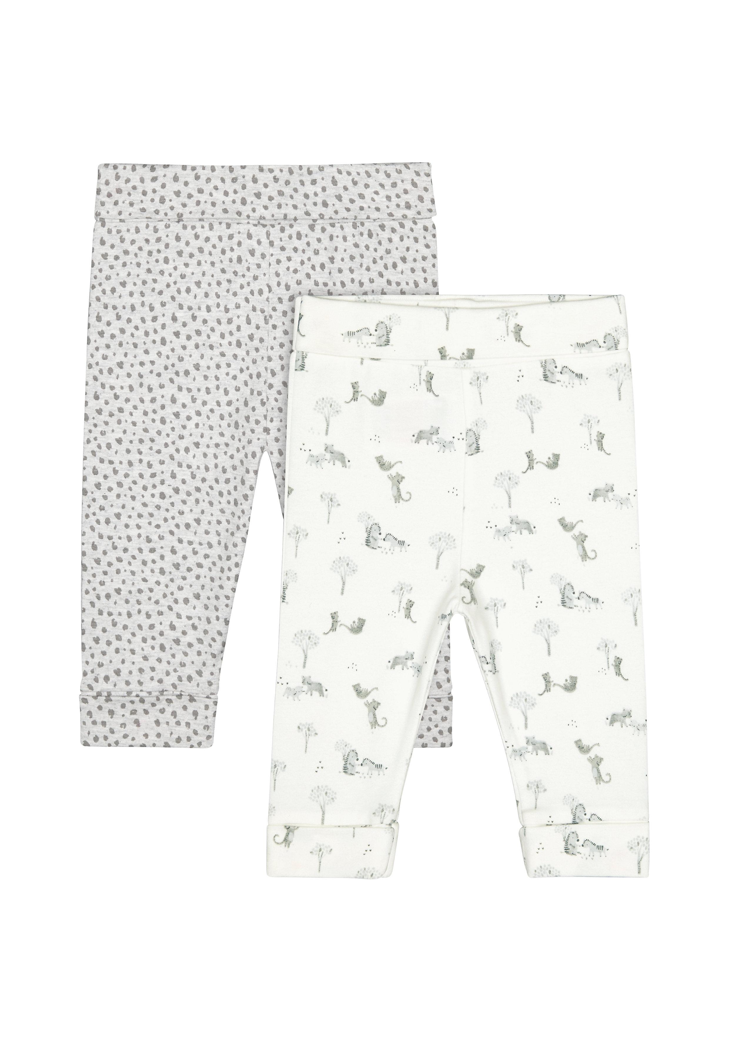 Mothercare   Girls Leggings Leopard Print - Pack Of 2 - Multicolor