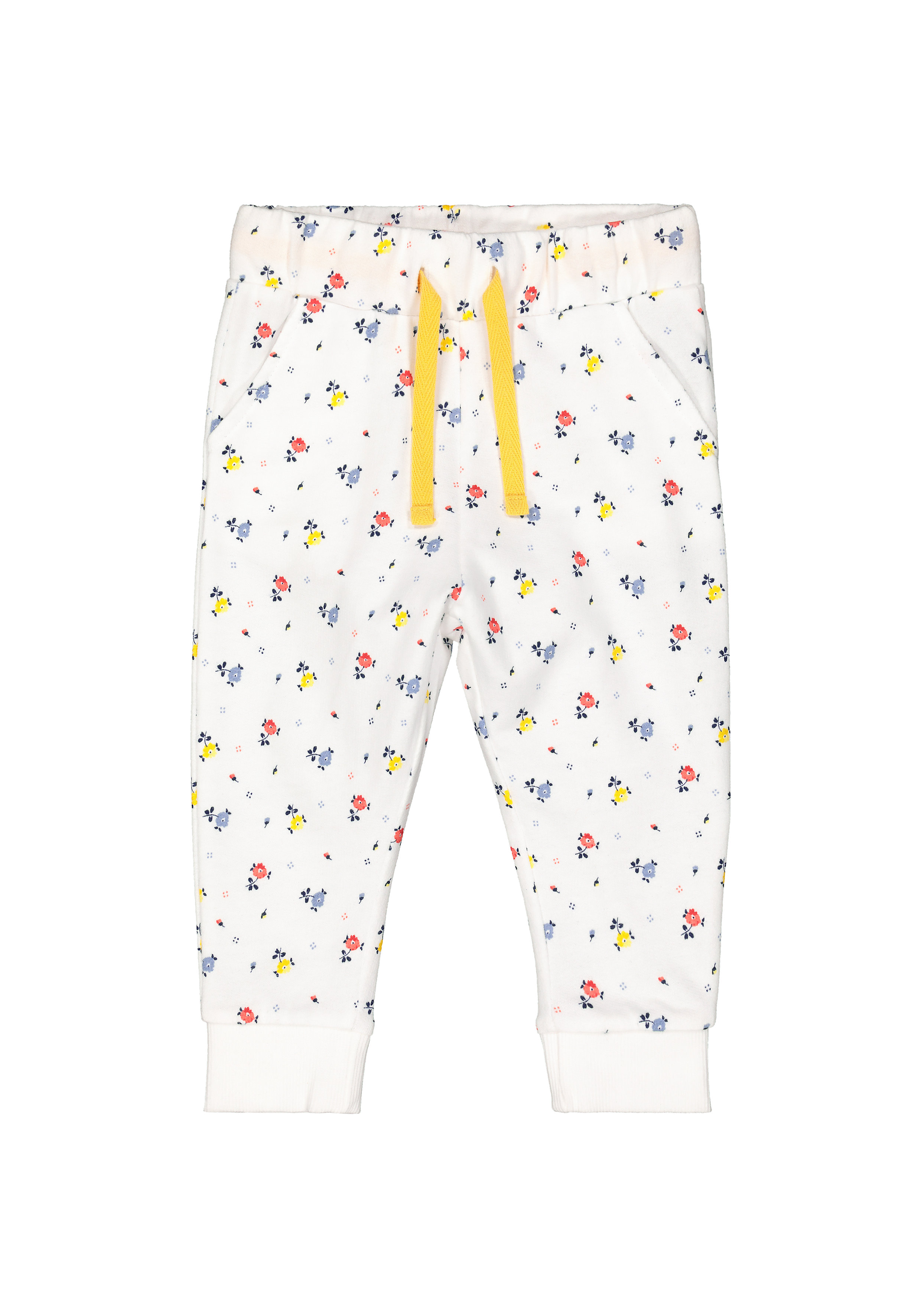 Mothercare | Girls Joggers Floral Print - White