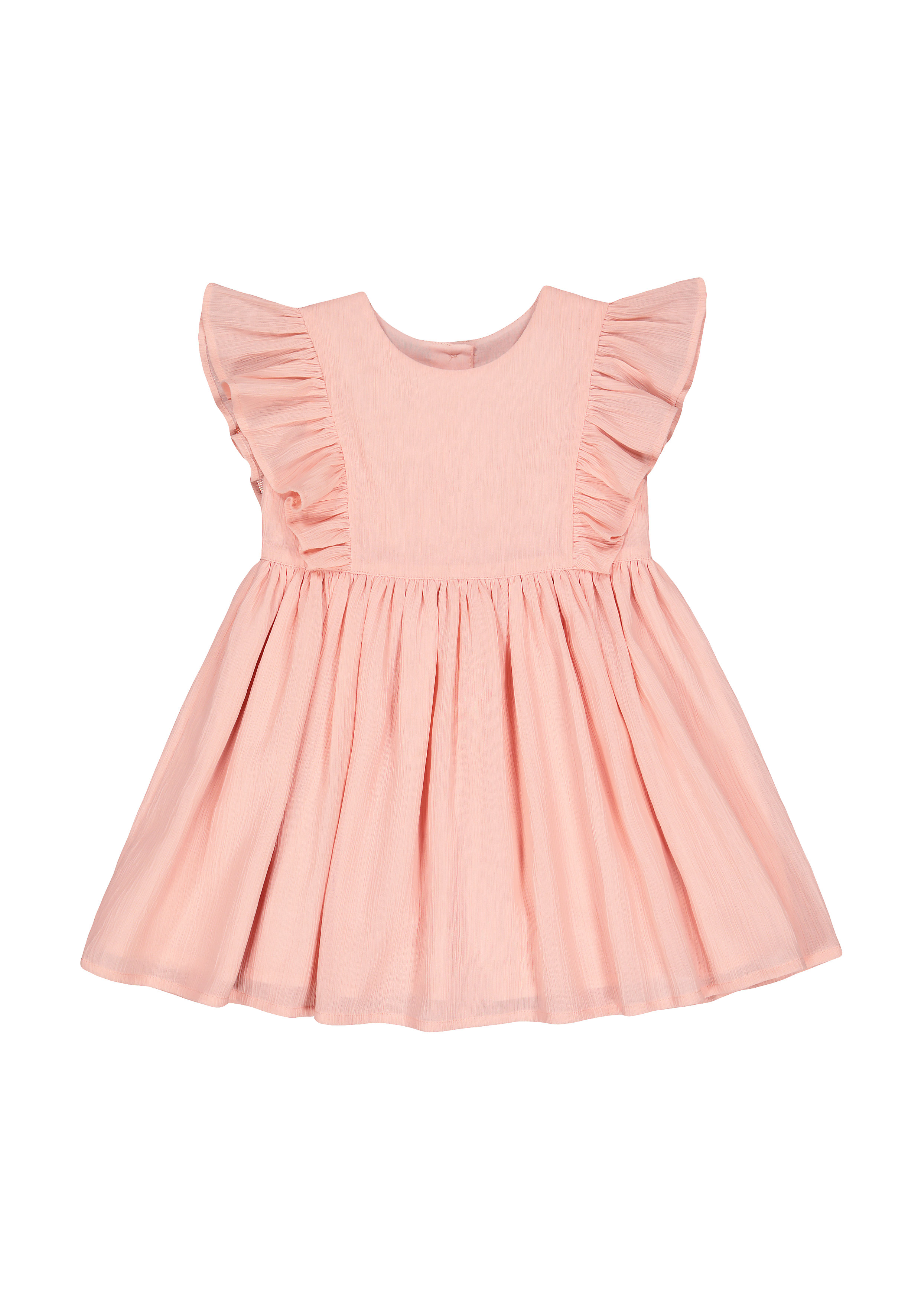 Mothercare | Girls Sleeveless Dress Frill Detail - Pink