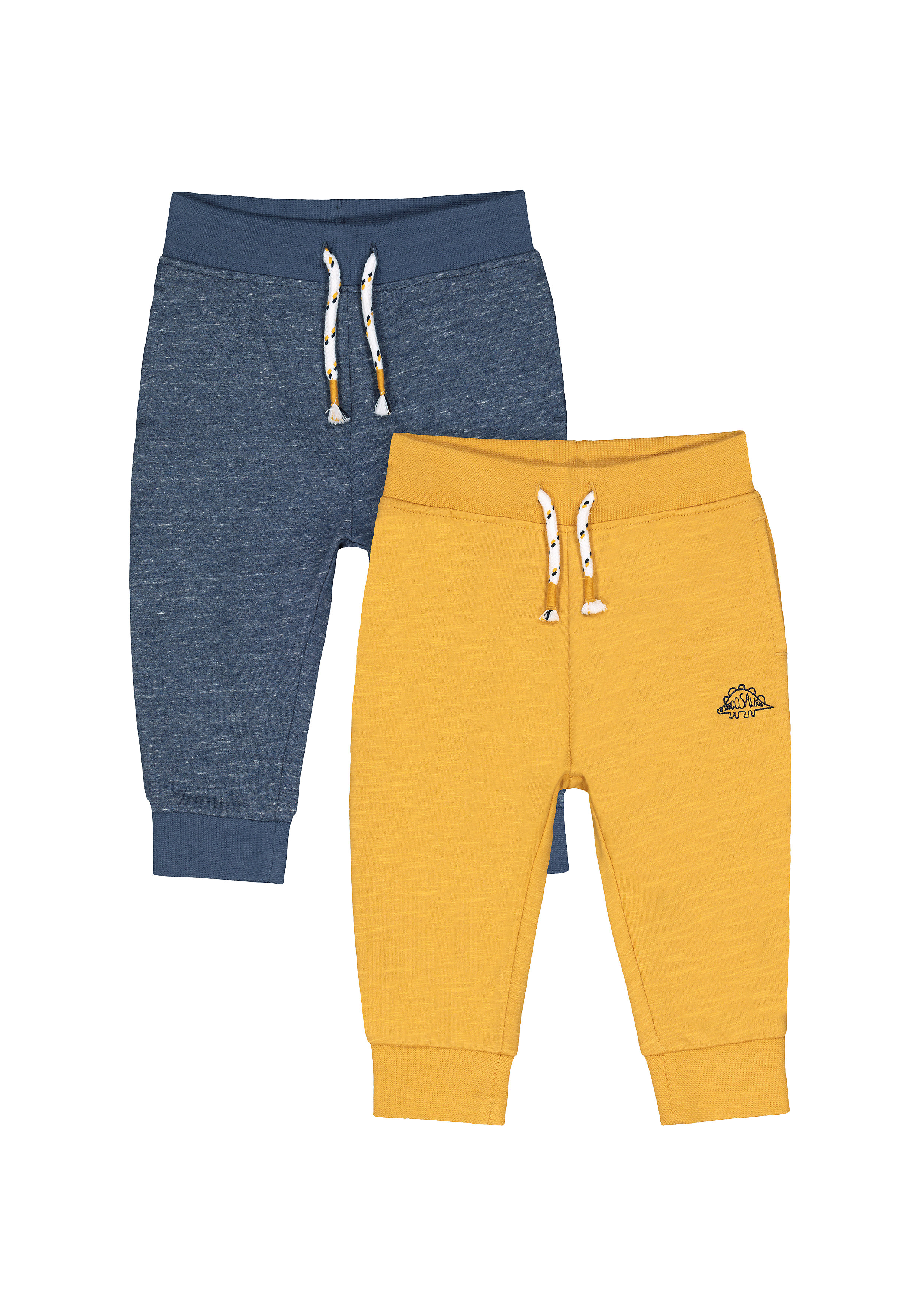Mothercare | Boys Joggers Dino Embroidery - Pack Of 2 - Multicolor