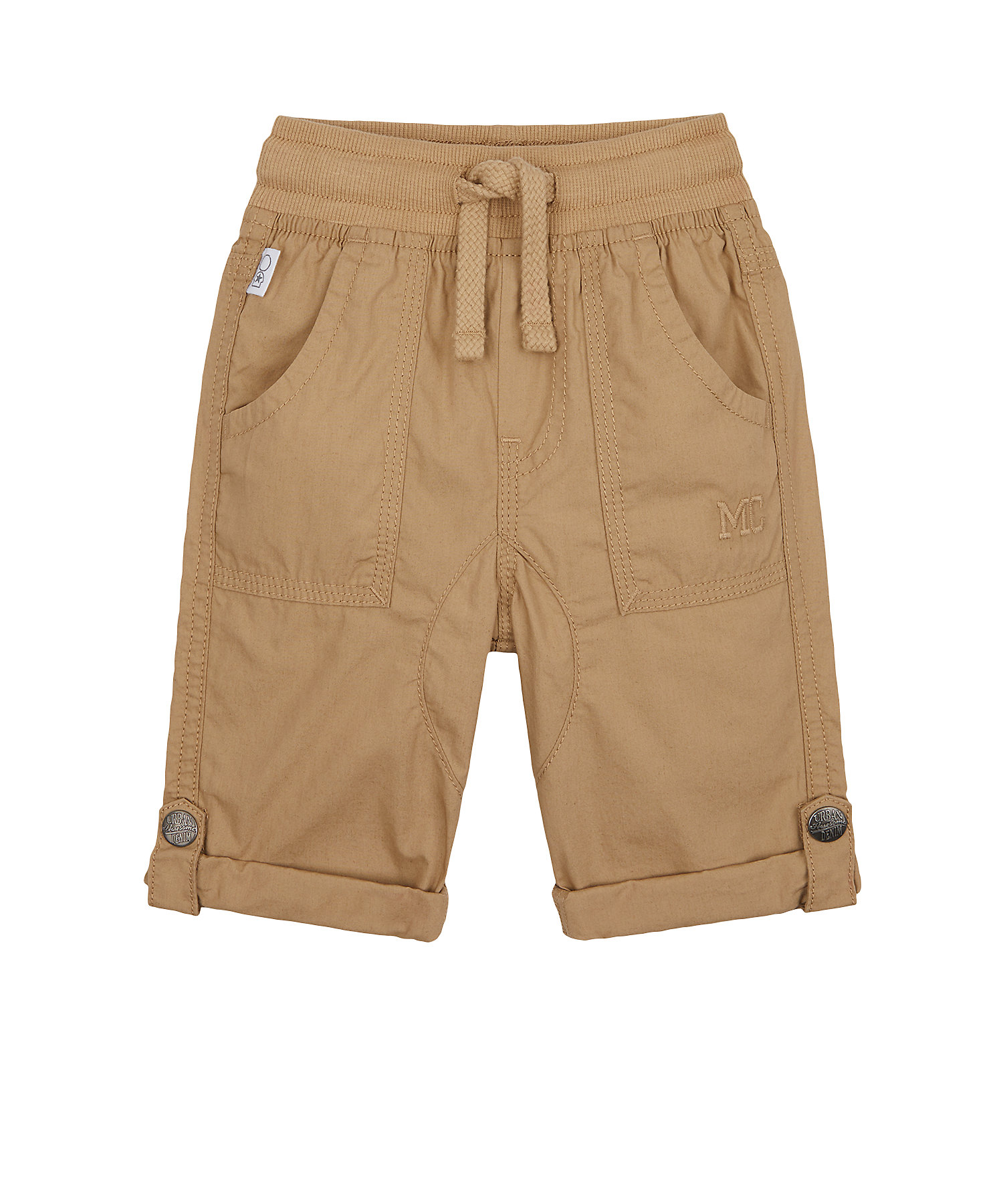 Mothercare | Boys Trousers Roll-Up Hem - Brown
