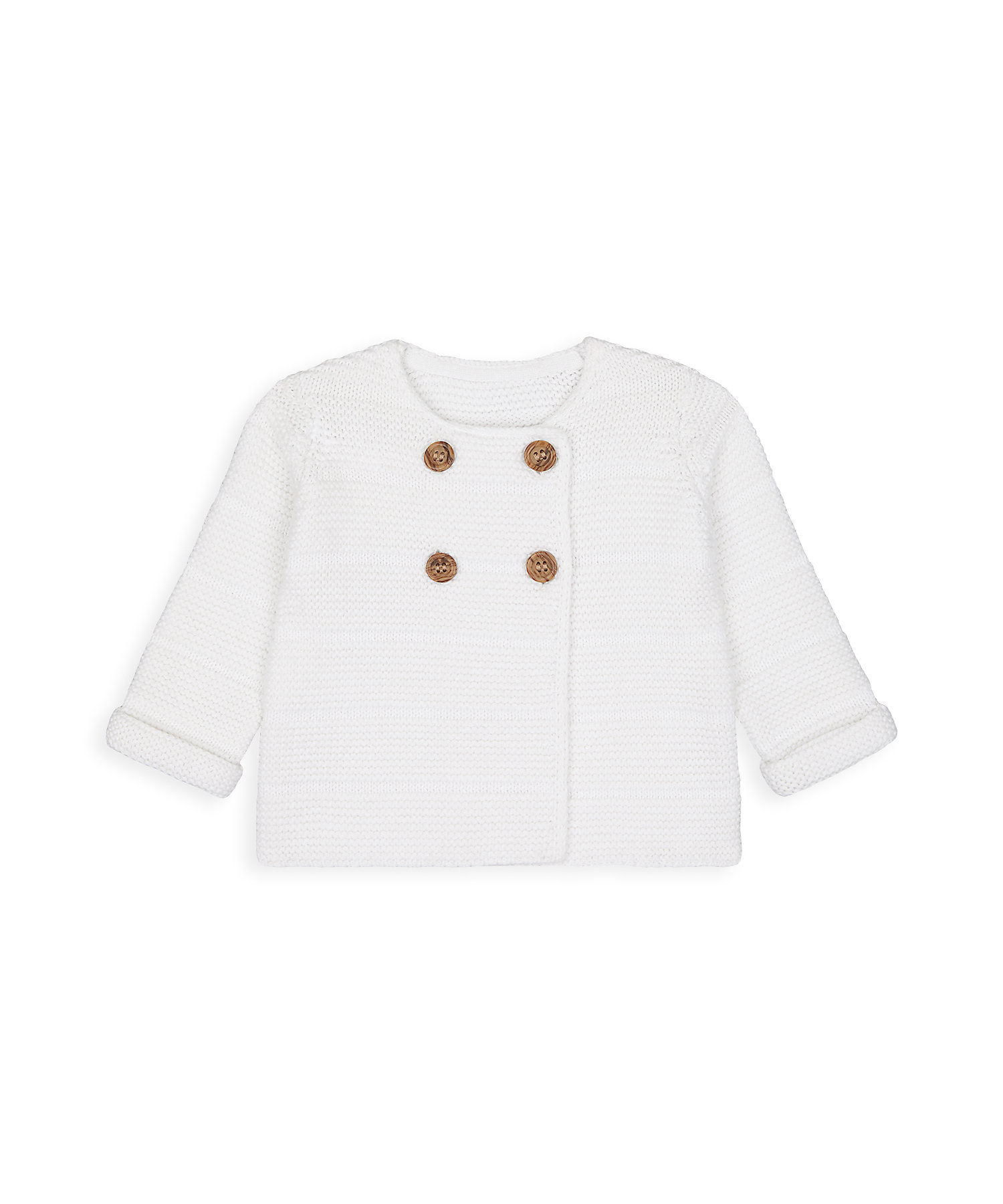 Mothercare | Unisex Full Sleeves Cardigan With Button Fastening - Cream