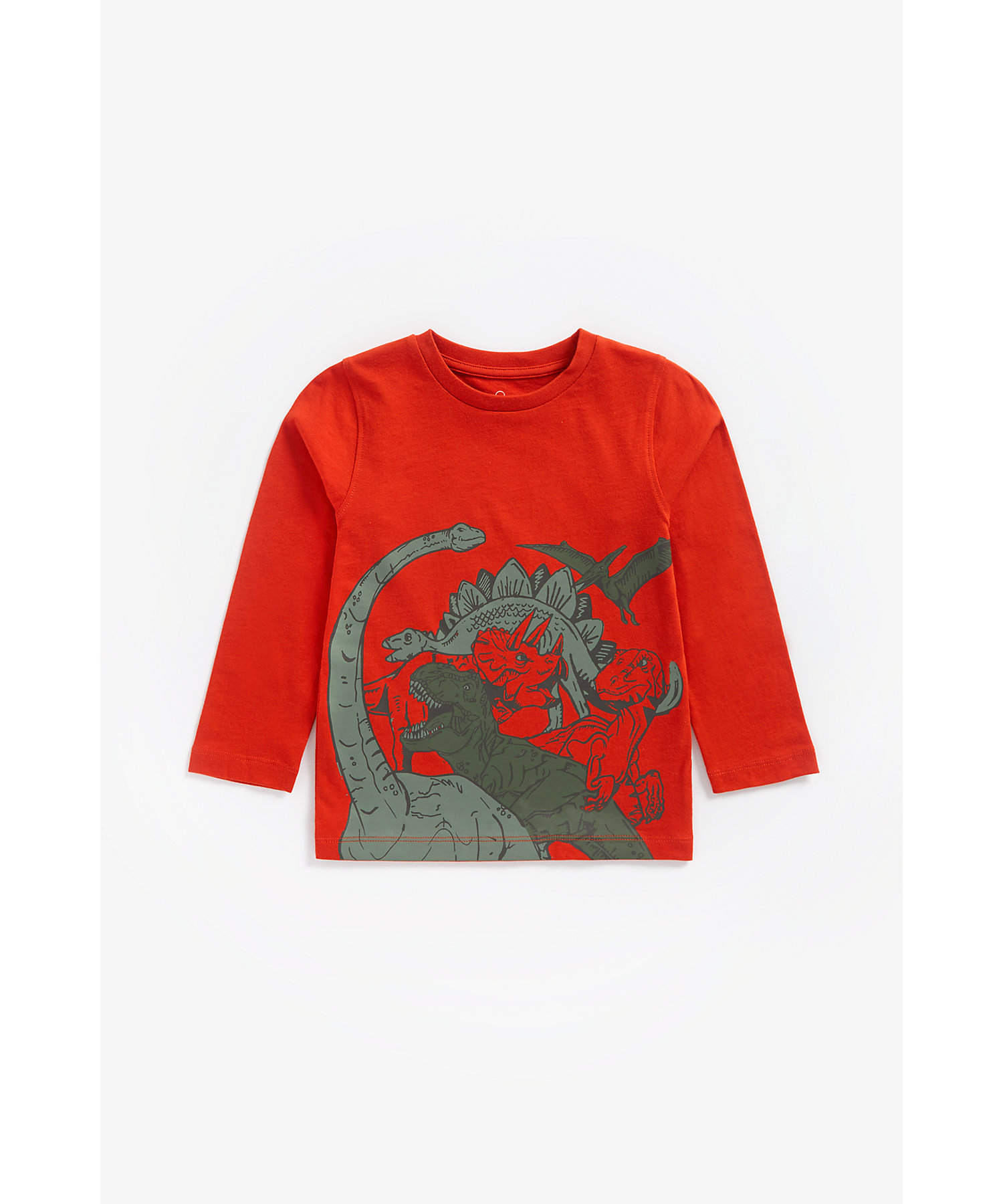 Mothercare | Boys Full Sleeves T-Shirt Dino Print - Red