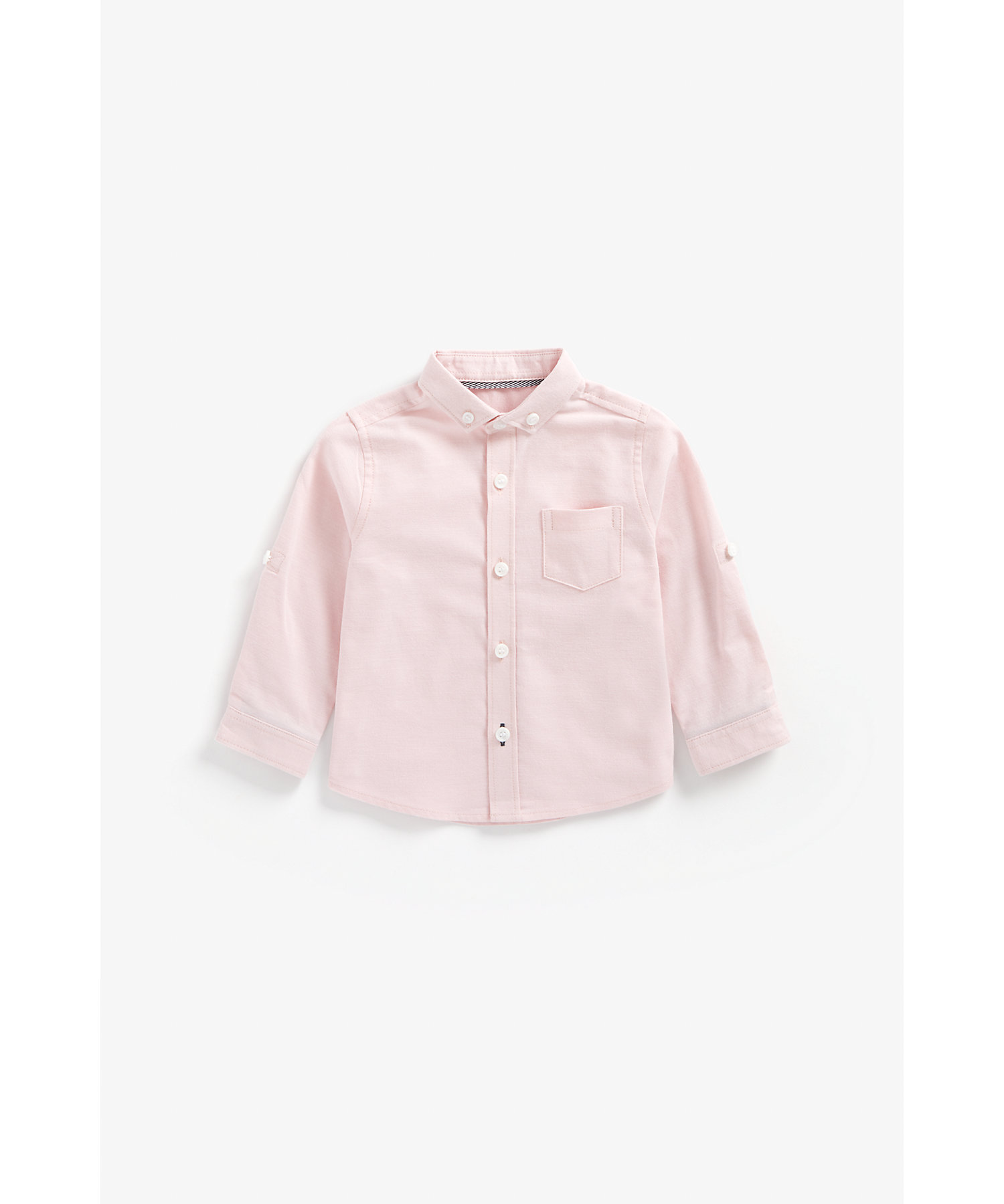Mothercare | Boys Full Sleeves Oxford Shirt - Pink