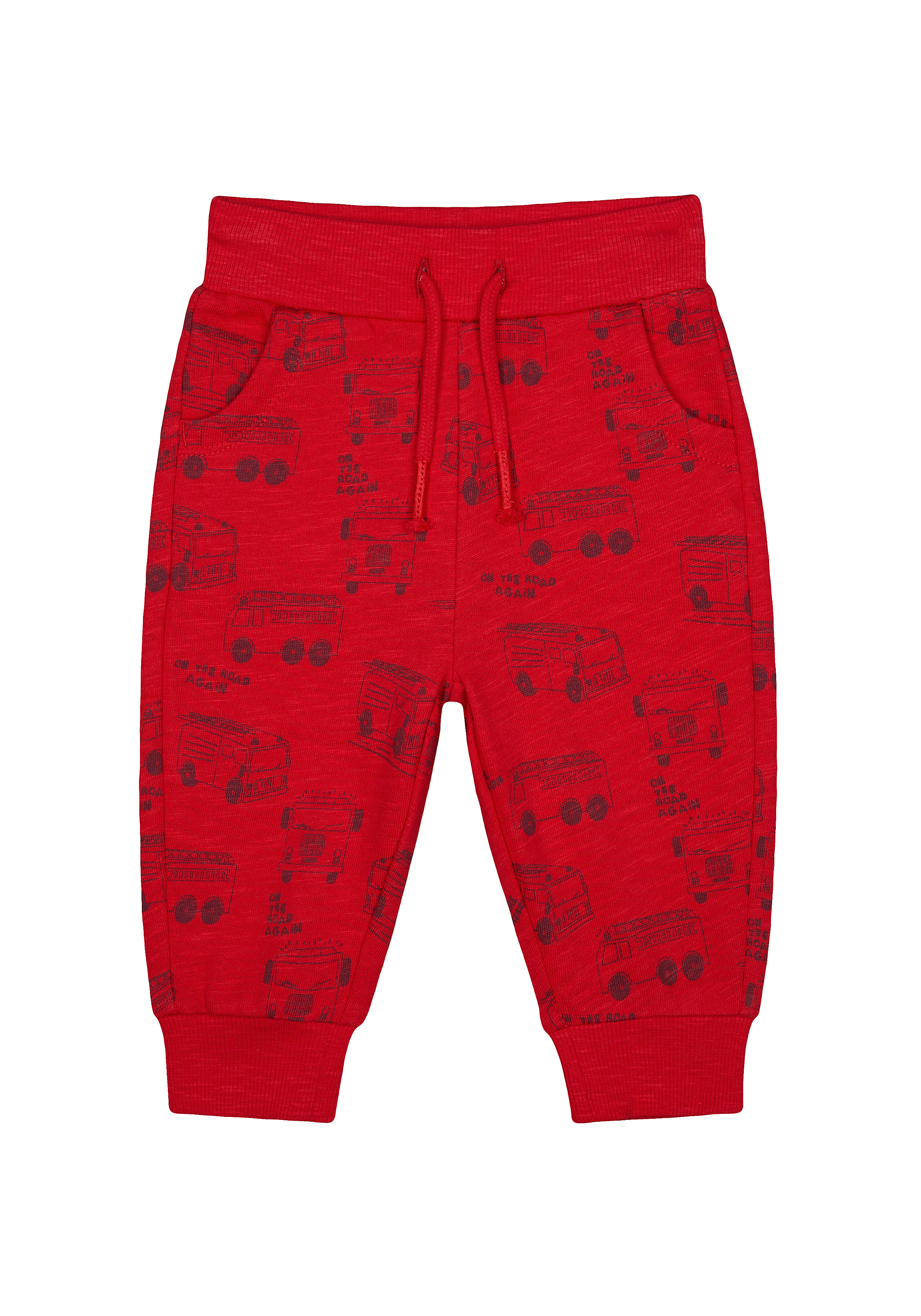 Mothercare   Boys Joggers Fire Engine Print - Red