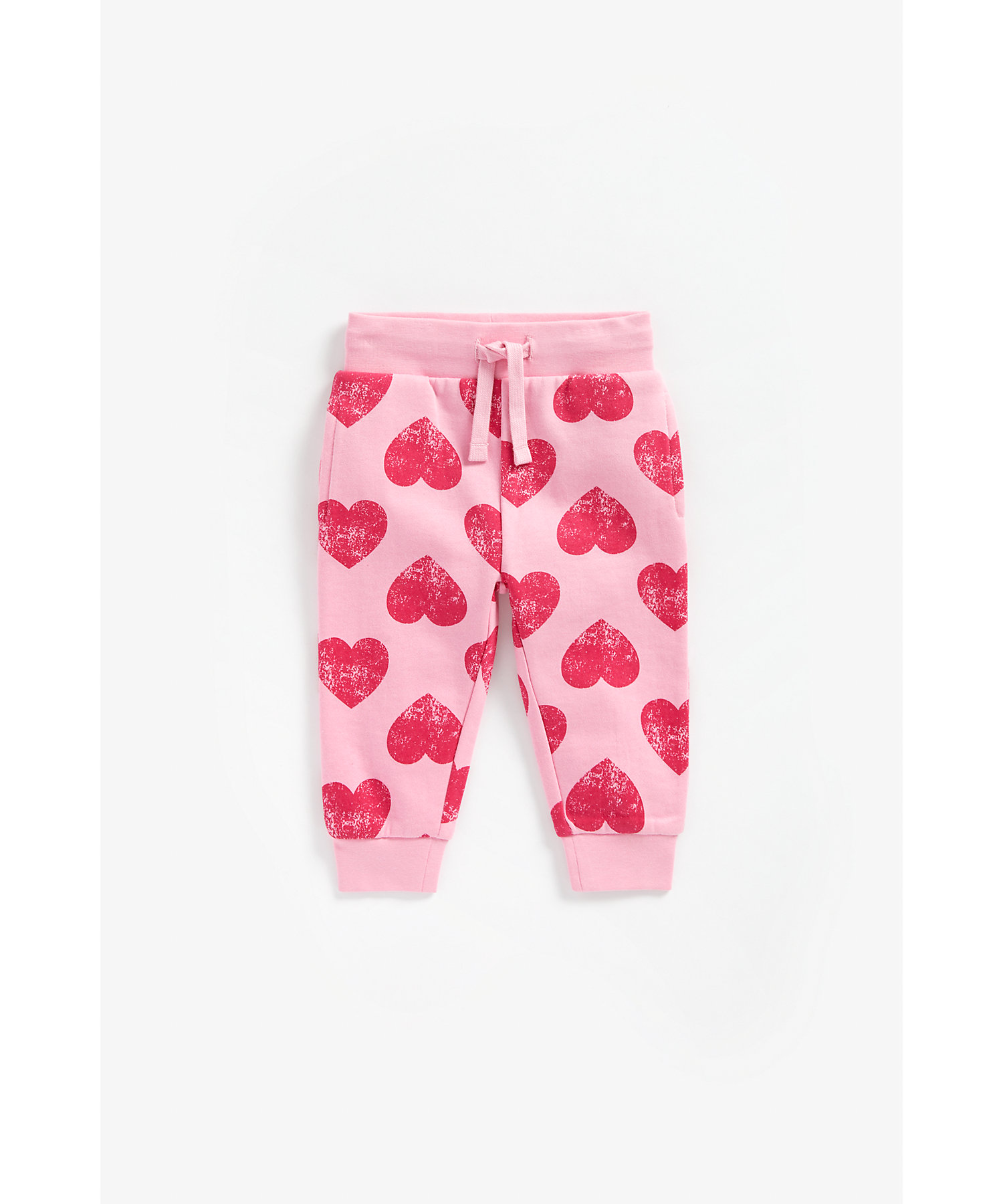 Mothercare   Girls Joggers Heart Print - Pink