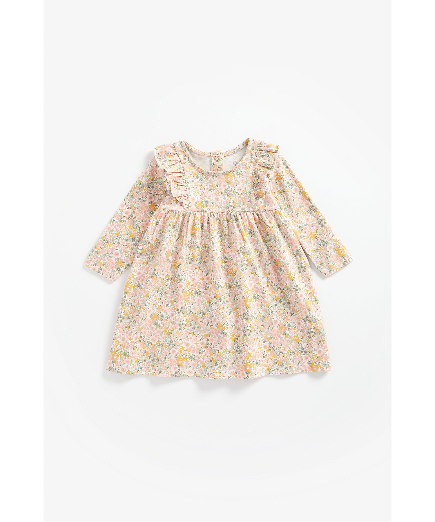 Mothercare   Girls Full Sleeves Dress Floral Print - Multicolor