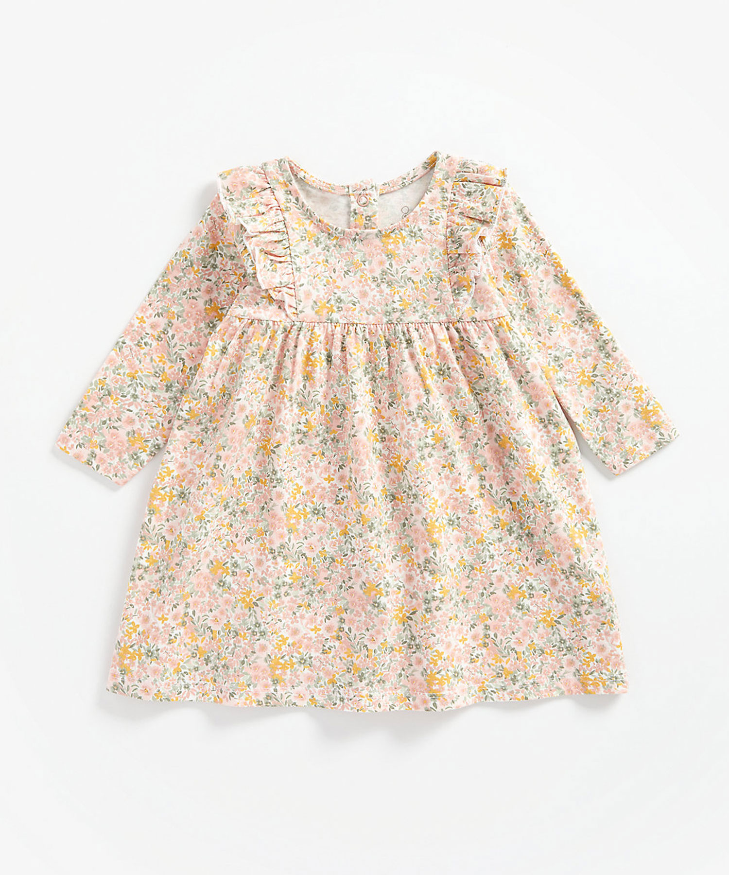 Mothercare | Girls Full Sleeves Dress Floral Print - Multicolor