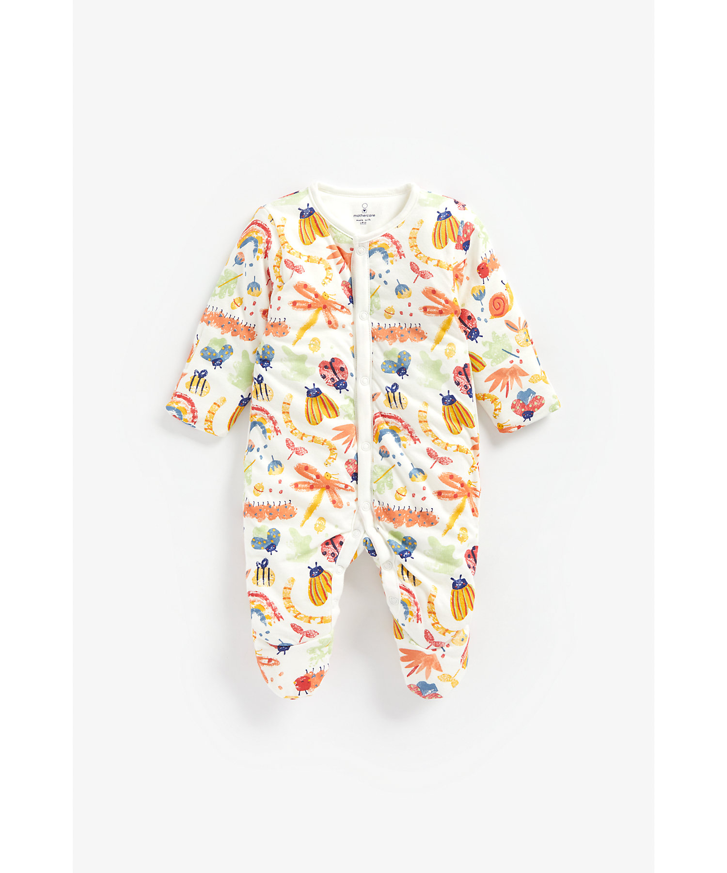 Mothercare | Boys Full Sleeves Snowsuit Bug Print - Multicolor
