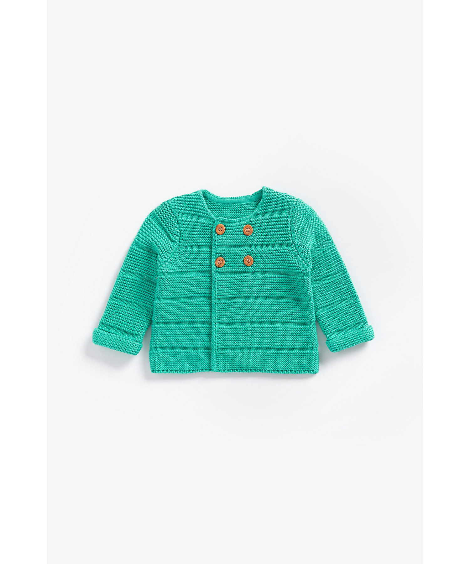 Mothercare | Boys Full Sleeves Cardigan With Button Fastening - Green