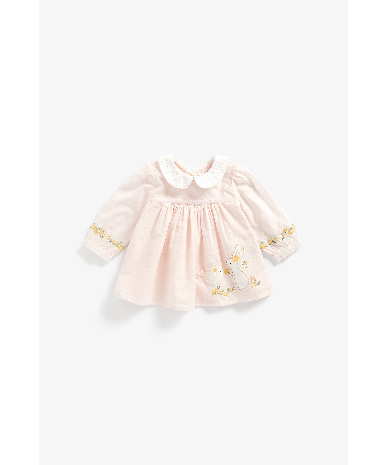 Mothercare | Girls Full Sleeves Top Bunny Patchwork - Pink