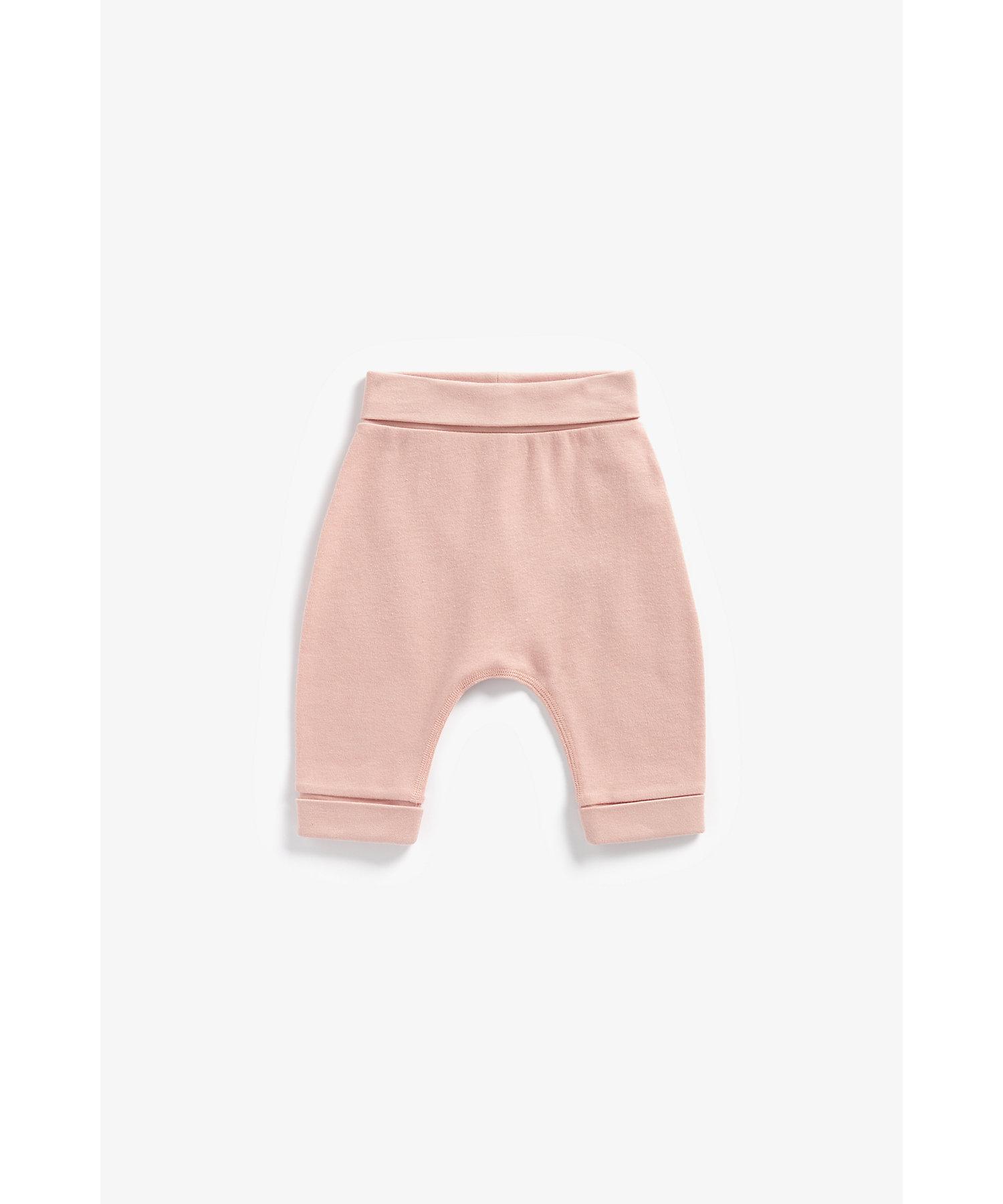 Mothercare | Girls Organic Cotton Joggers - Pink