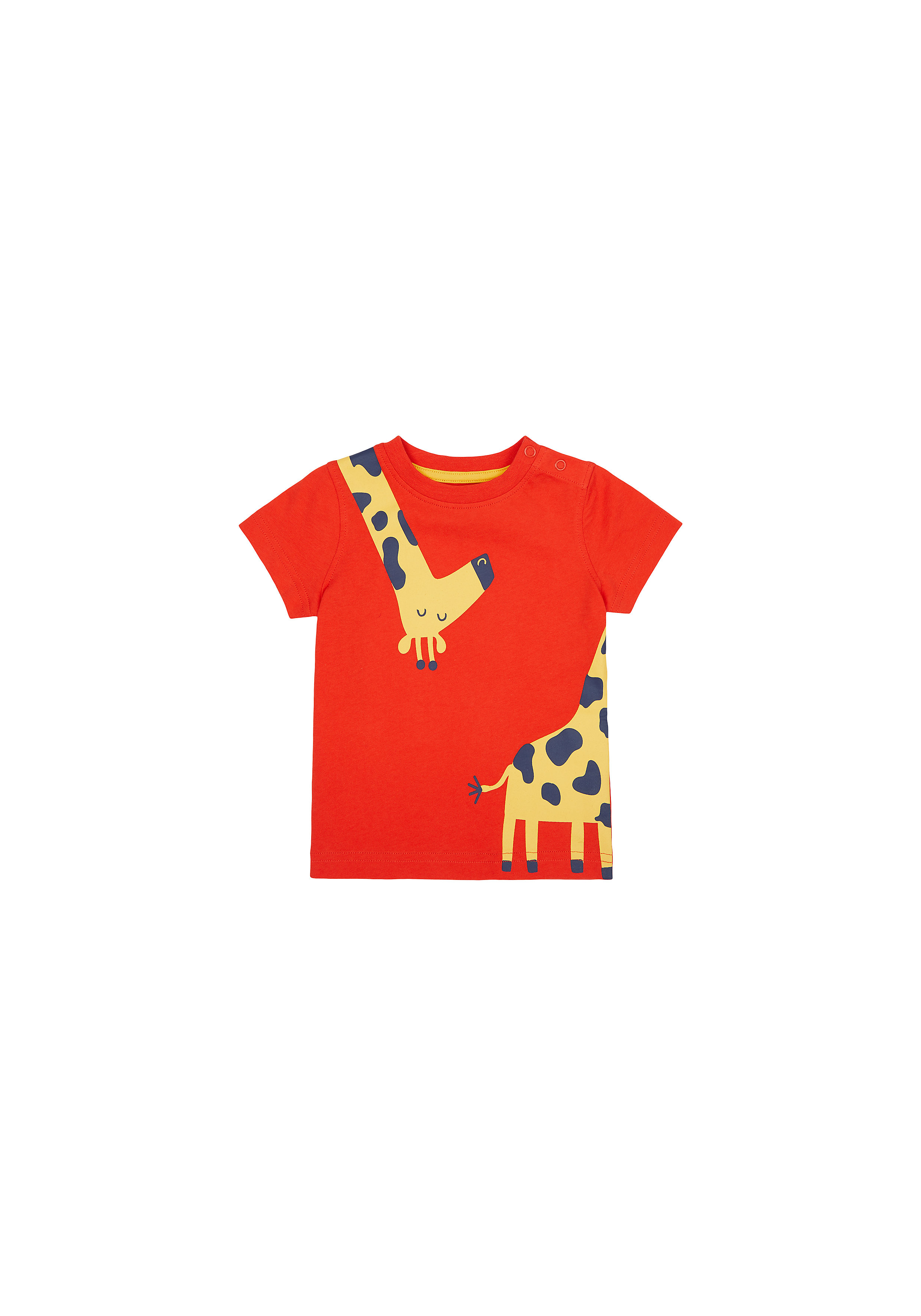 Mothercare | Boys Half Sleeves T-Shirt Giraffe Print - Red