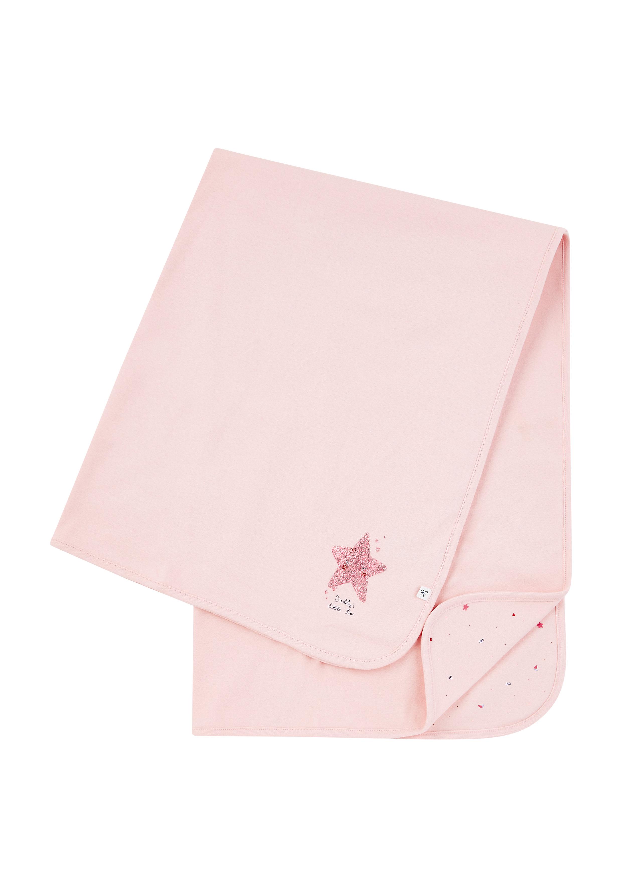 Mothercare | Girls Shawl Sparkle Star Print - Pink