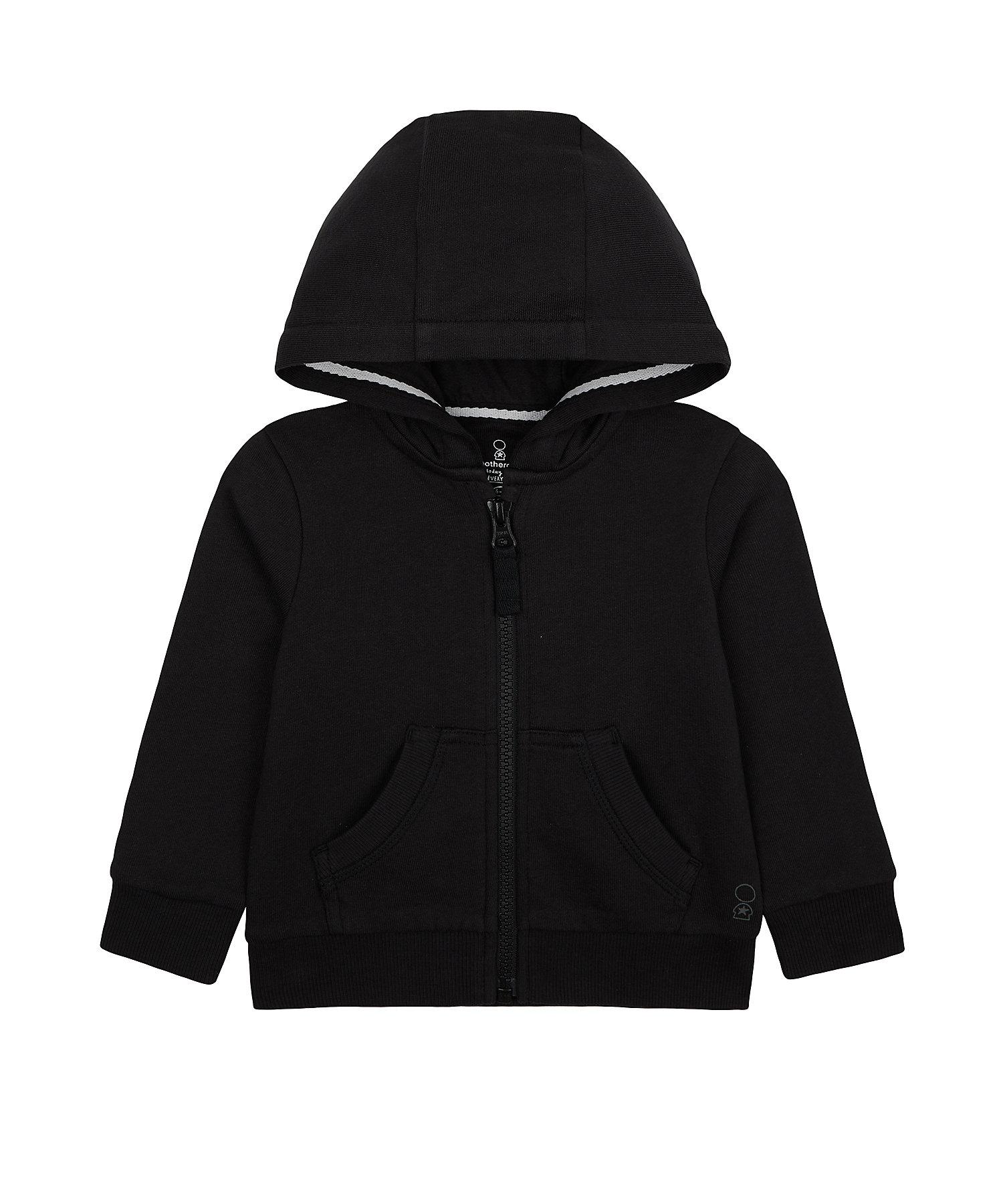 Mothercare | Boys Full Sleeves Hooded Sweatshirt With Zip Opening - Black