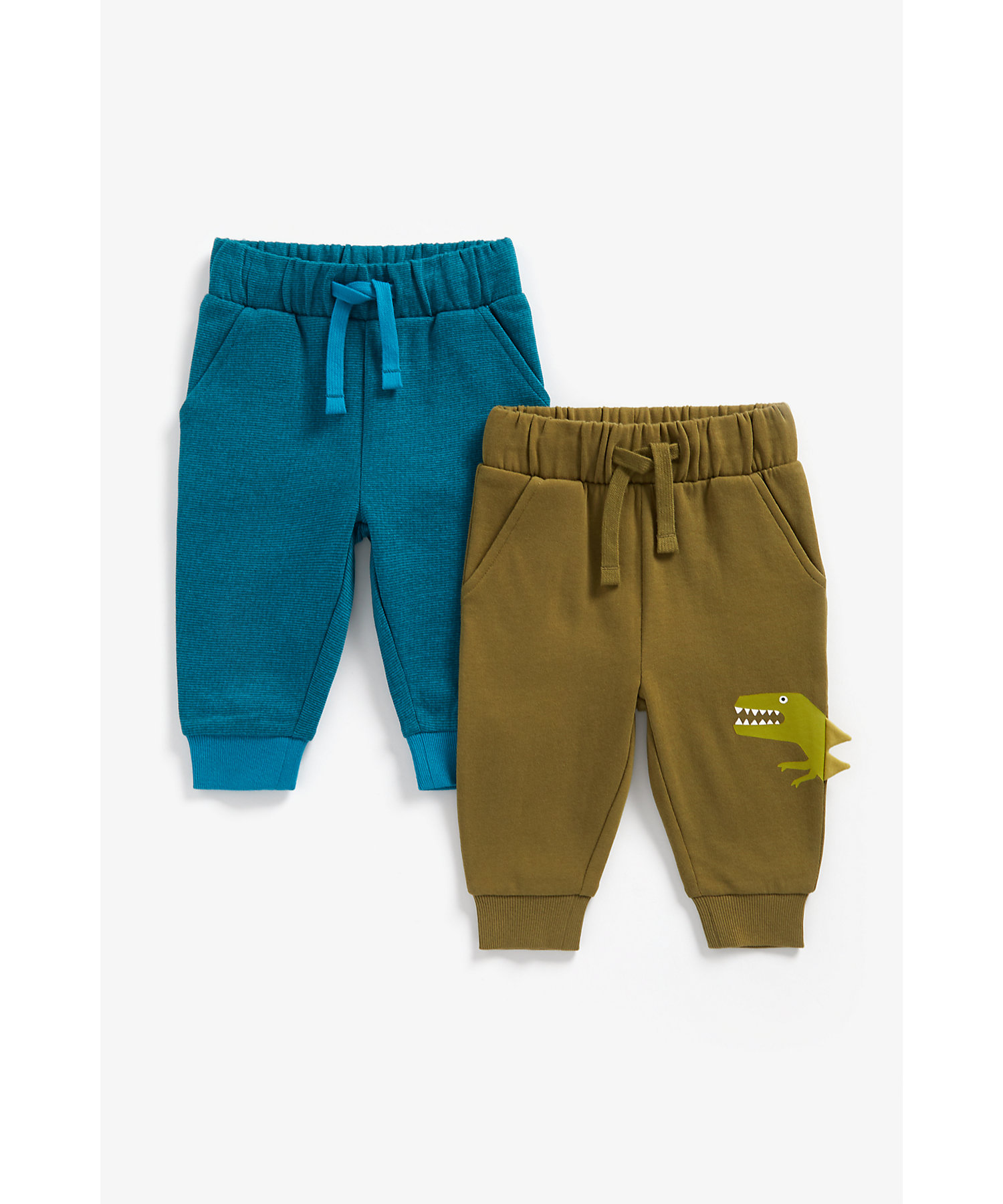 Mothercare | Boys Joggers 3D Dino Spikes - Pack Of 2 - Multicolor