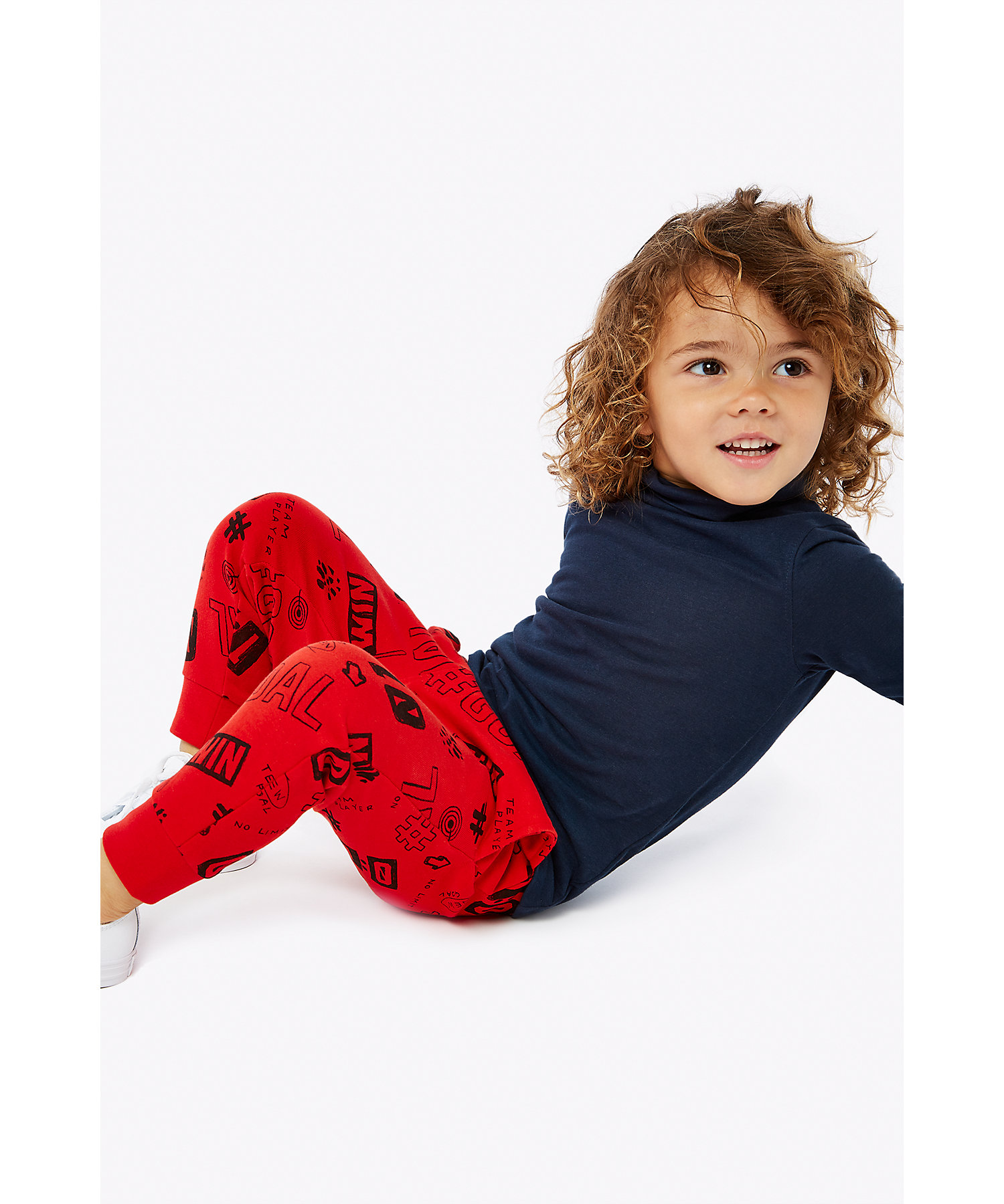 Mothercare | Boys Joggers Text Print - Red