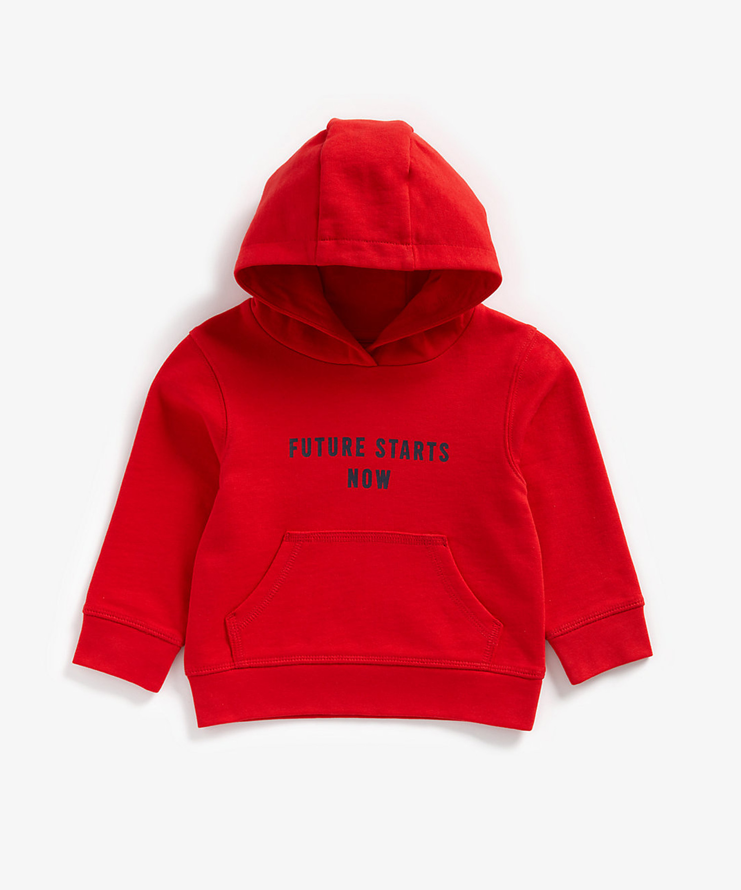 Mothercare | Boys Full Sleeves Hooded Sweatshirt Text Print - Red