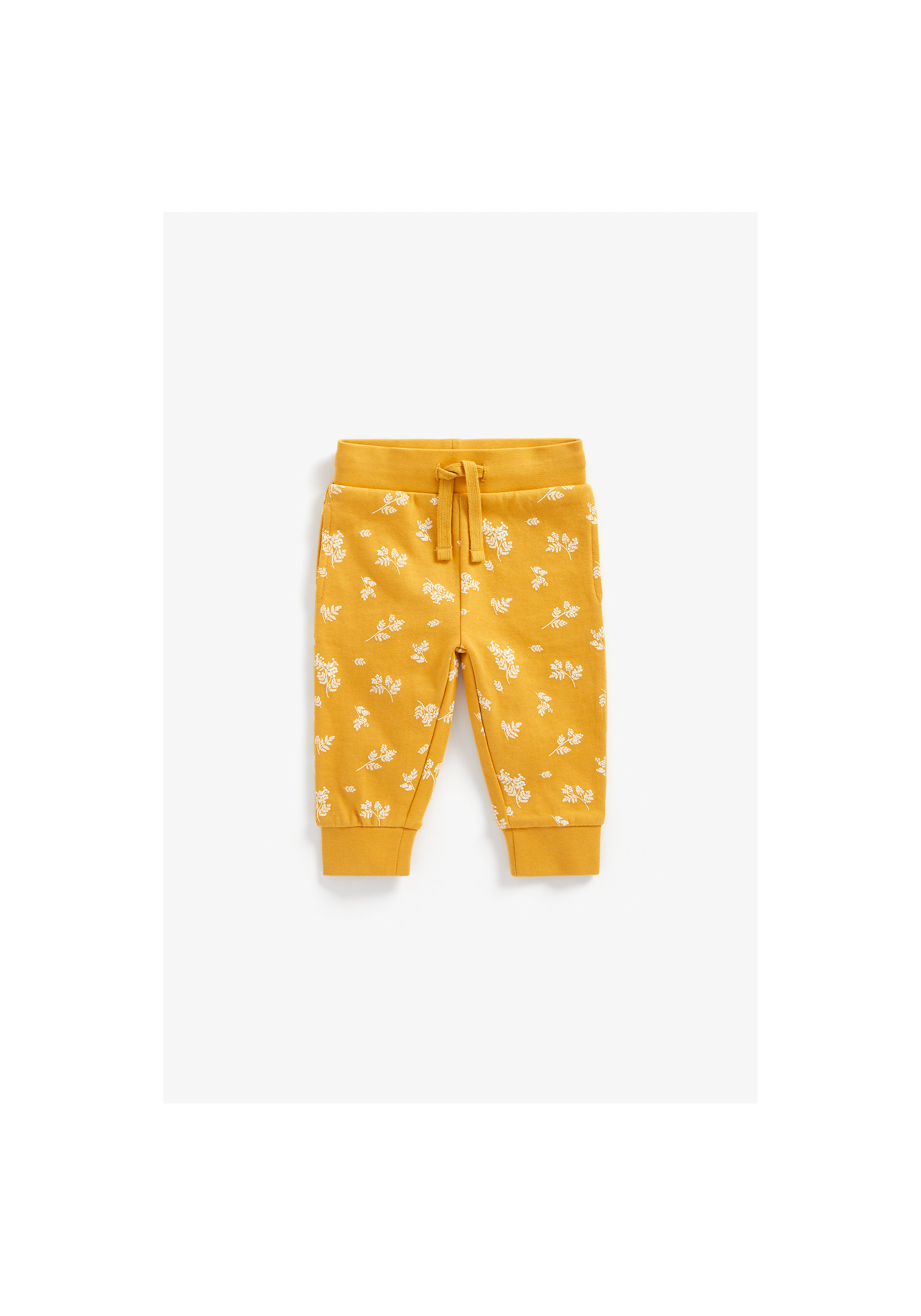 Mothercare | Girls Joggers Floral Print - Mustard