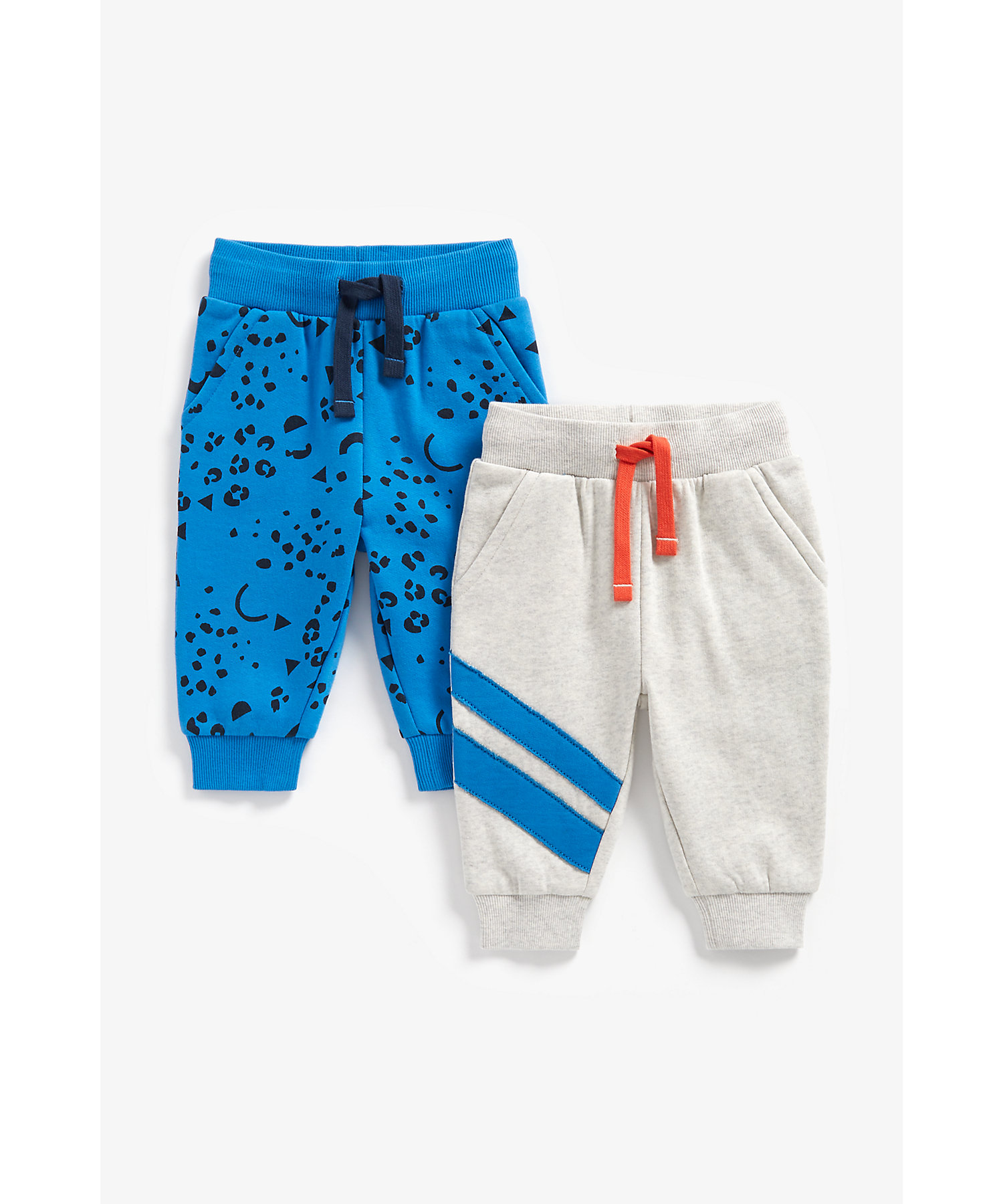Mothercare | Boys Joggers Leopard Print - Pack Of 2 - Multicolor