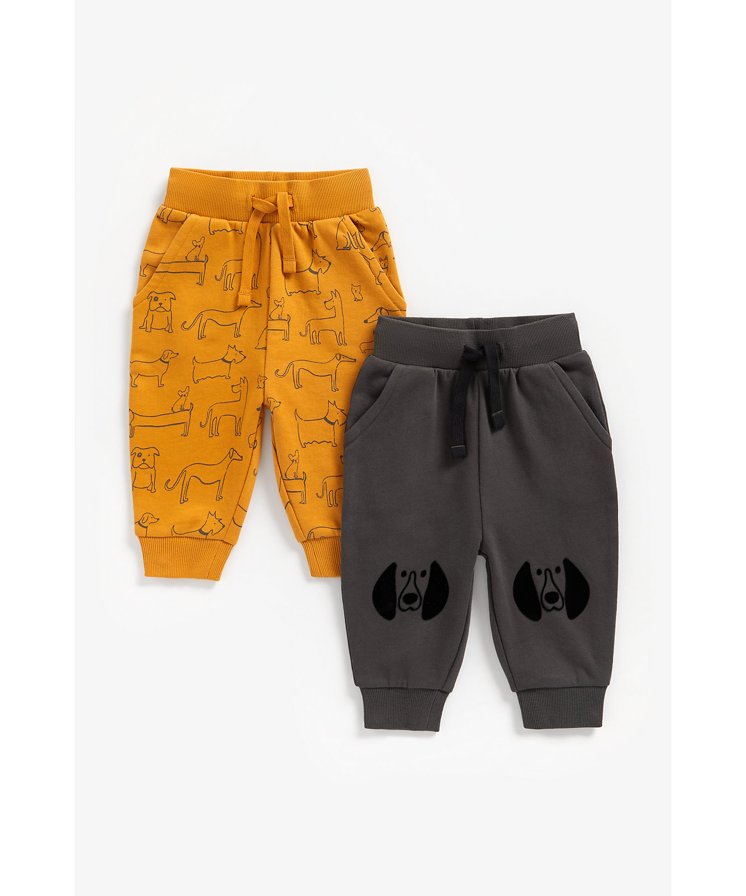 Mothercare | Boys Joggers Dog Print - Pack Of 2 - Multicolor