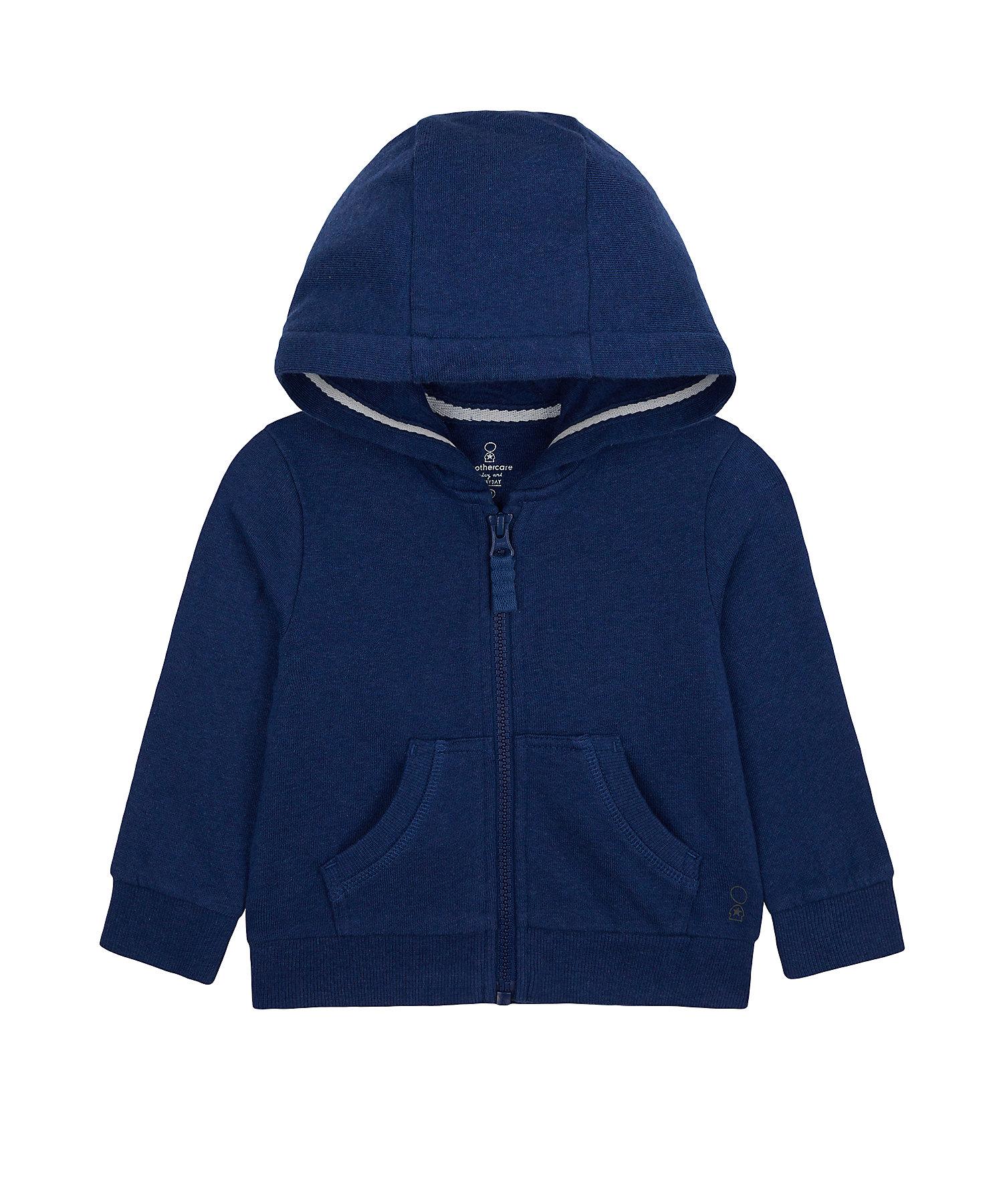 Mothercare | Boys Full Sleeves Hooded Sweatshirt Zip Opening - Navy