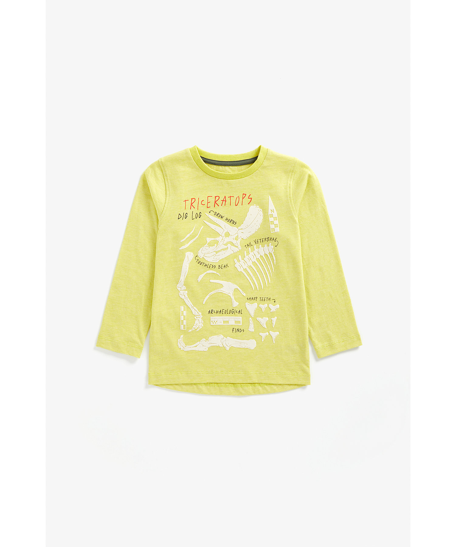 Mothercare | Boys Full Sleeves T-Shirt Dino Print - Yellow