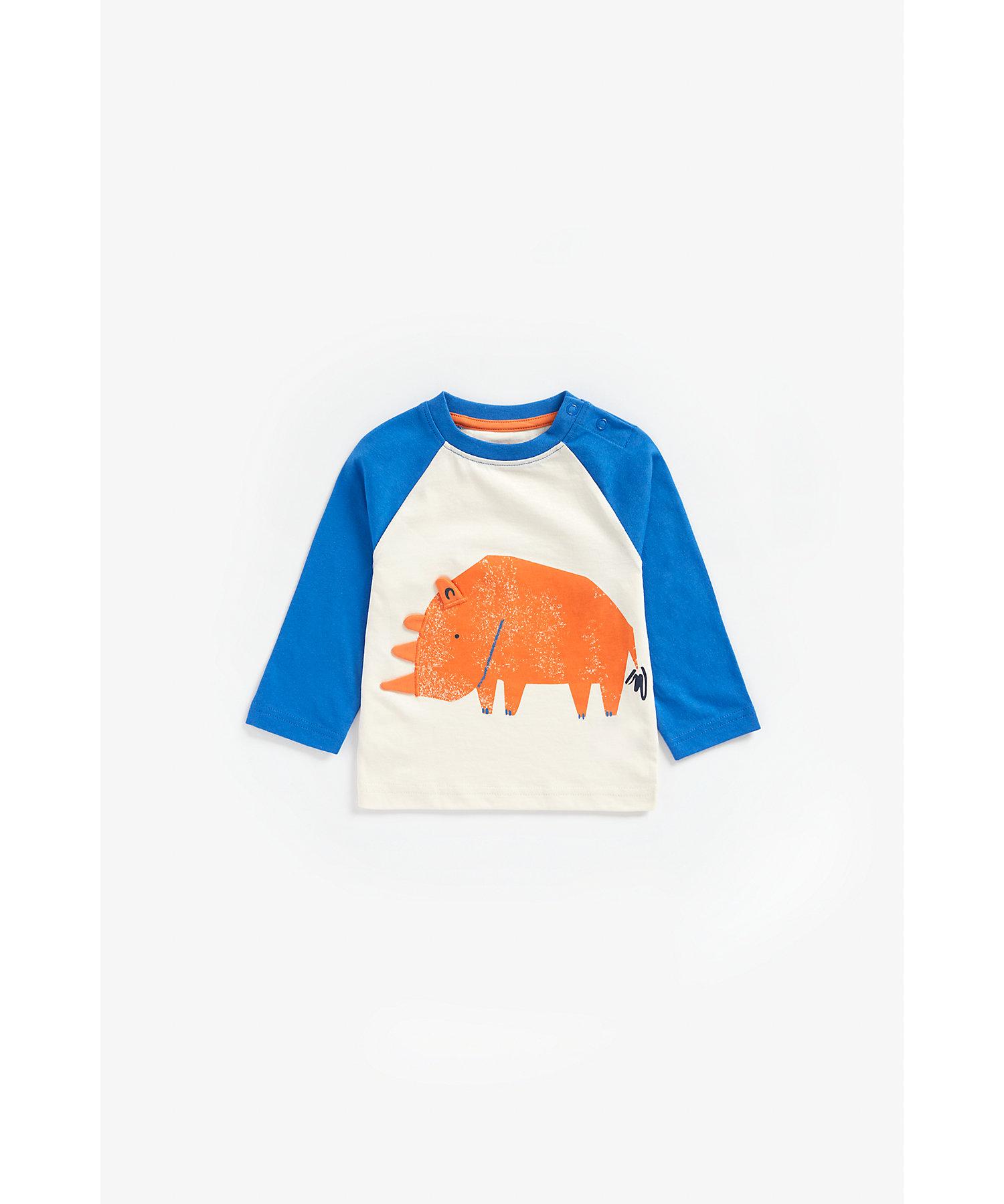 Mothercare | Boys Full Sleeves T-Shirt 3D Ear Detail - Multicolor