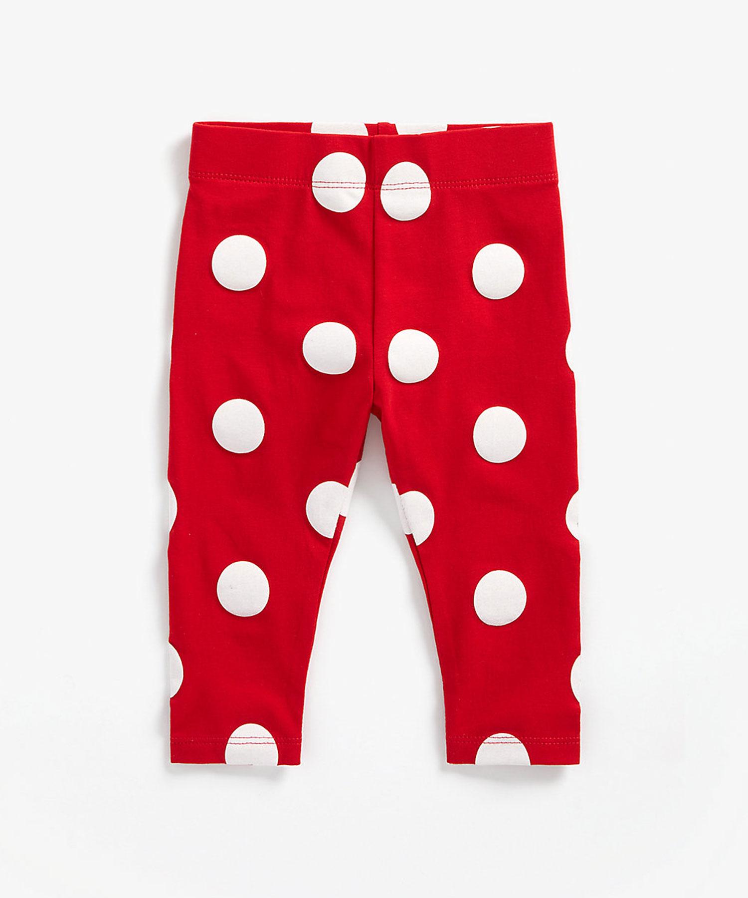 Mothercare | Girls Leggings Polka Dot Print - Red
