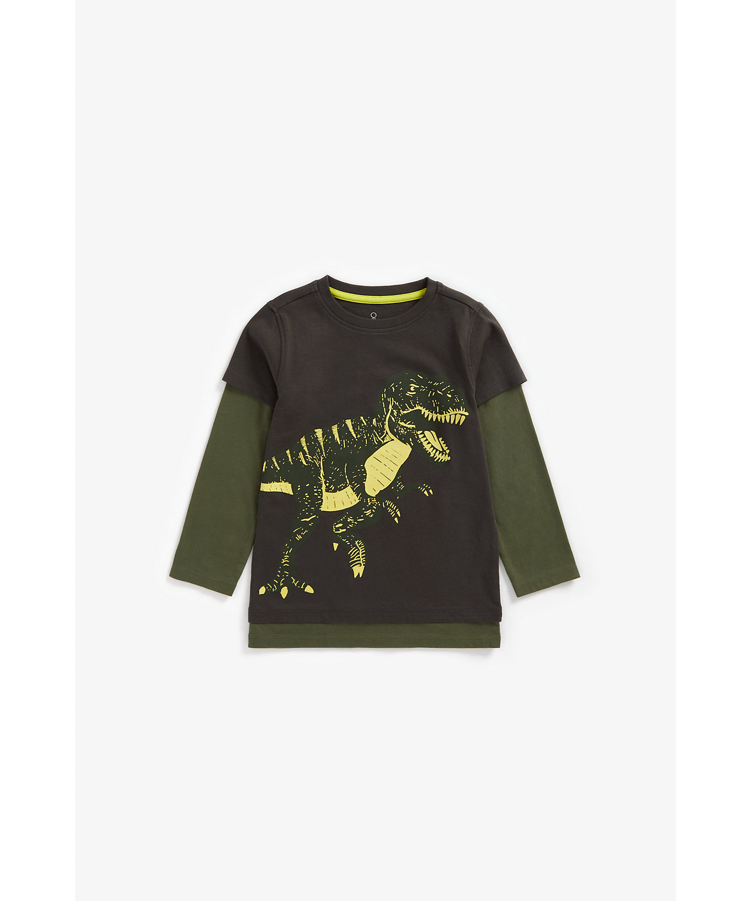 Mothercare | Boys Full Sleeves Glow-In-The-Dark T-Shirt - Navy