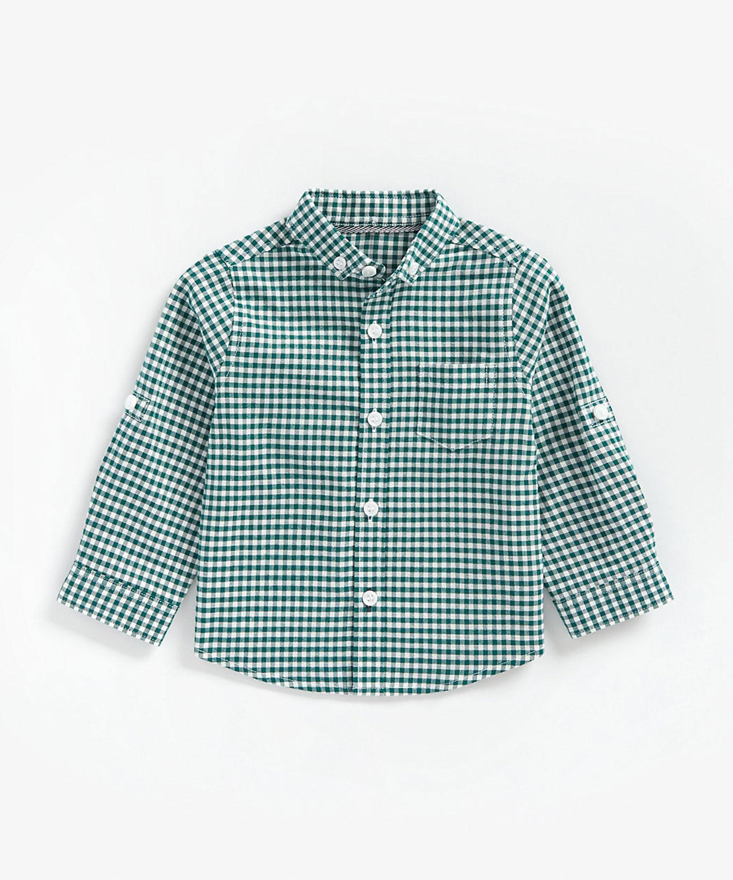 Mothercare | Boys Full Sleeves Oxford Shirt Checks - Multicolor