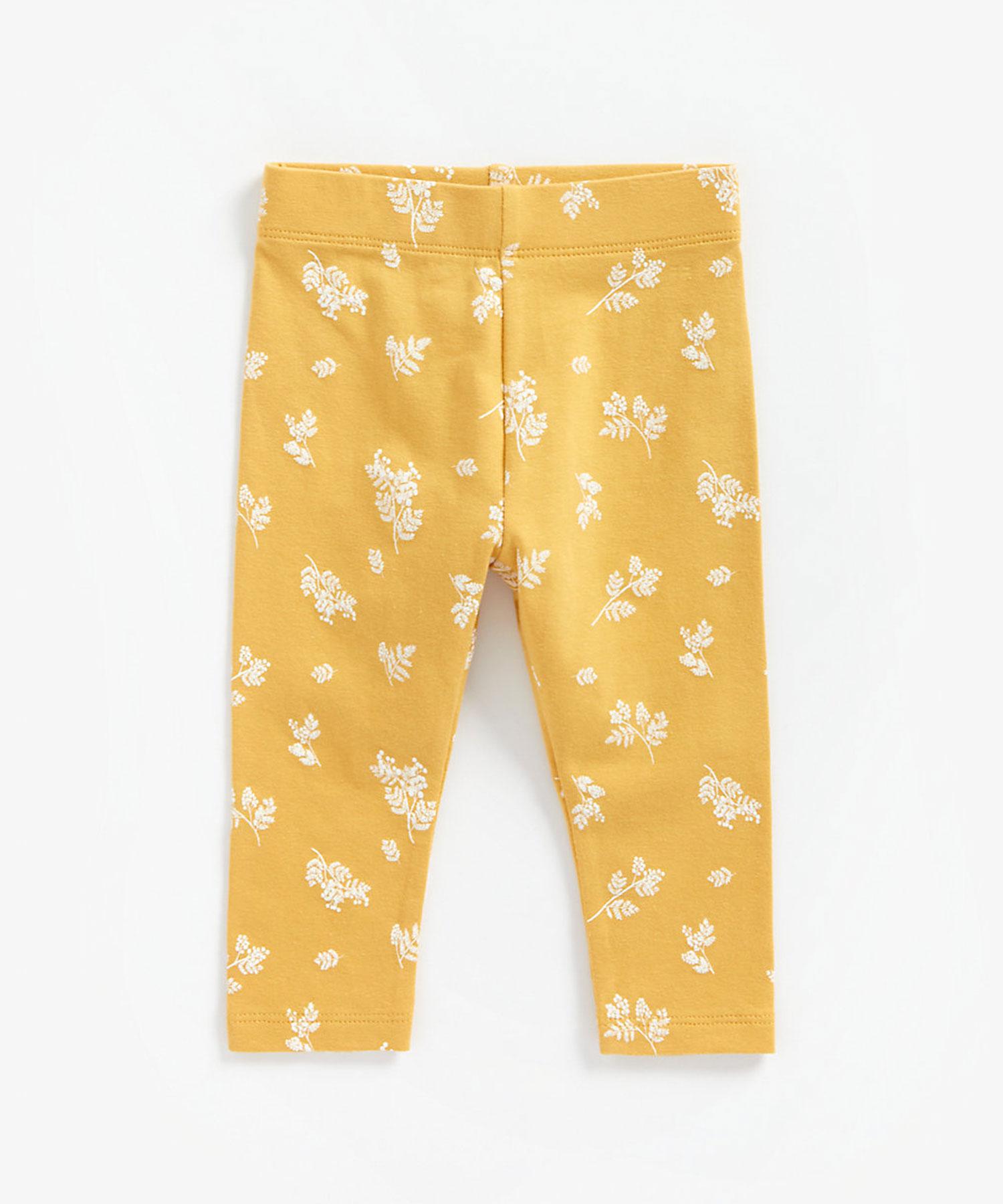 Mothercare | Girls Leggings Floral Print - Mustard
