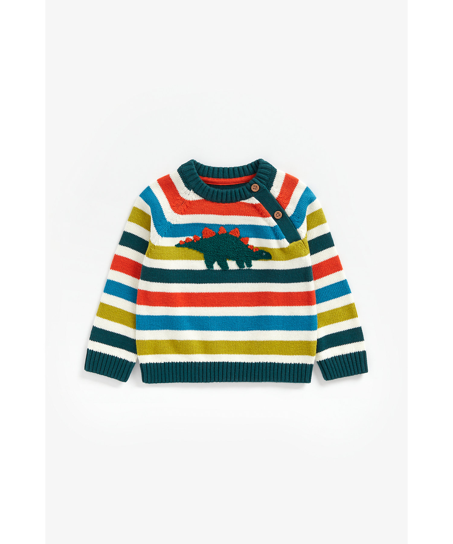 Mothercare   Boys Full Sleeves Sweater Textured Dino Design - Multicolor