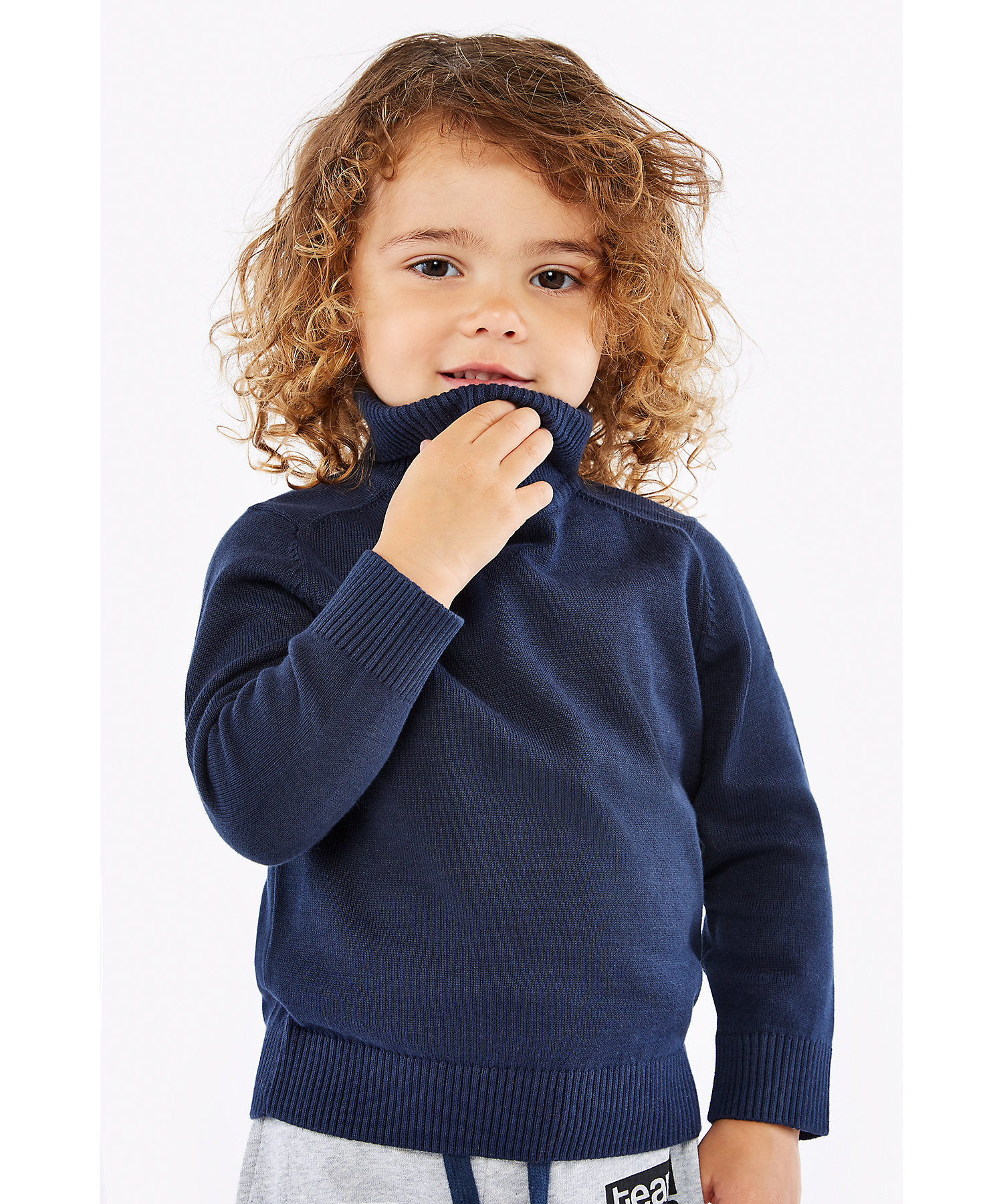 Mothercare   Boys Full Sleeves Sweater Roll Neck - Pack Of 2 - Multicolor