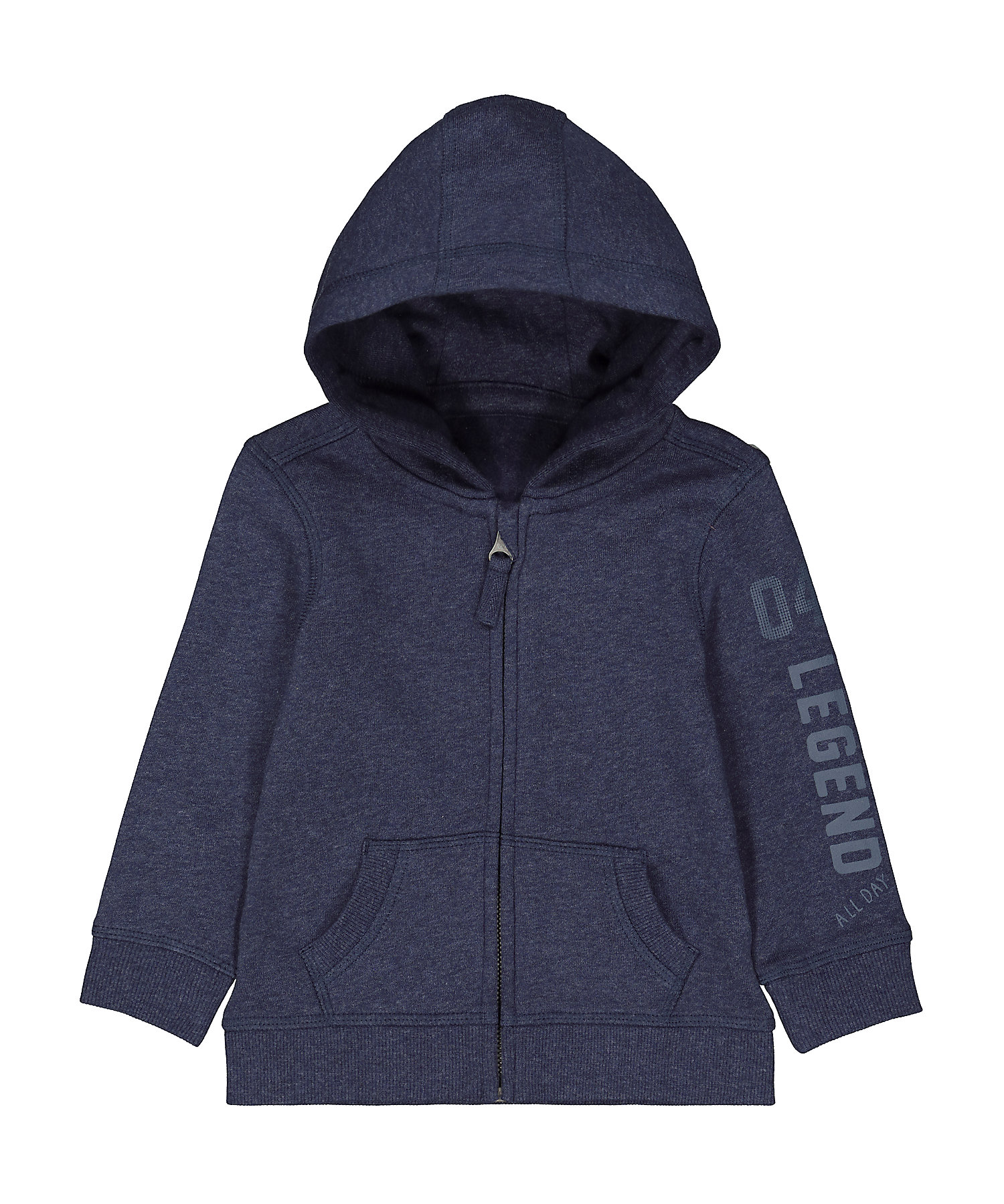 Mothercare | Boys Full Sleeves Hooded Sweatshirt Text Print - Navy
