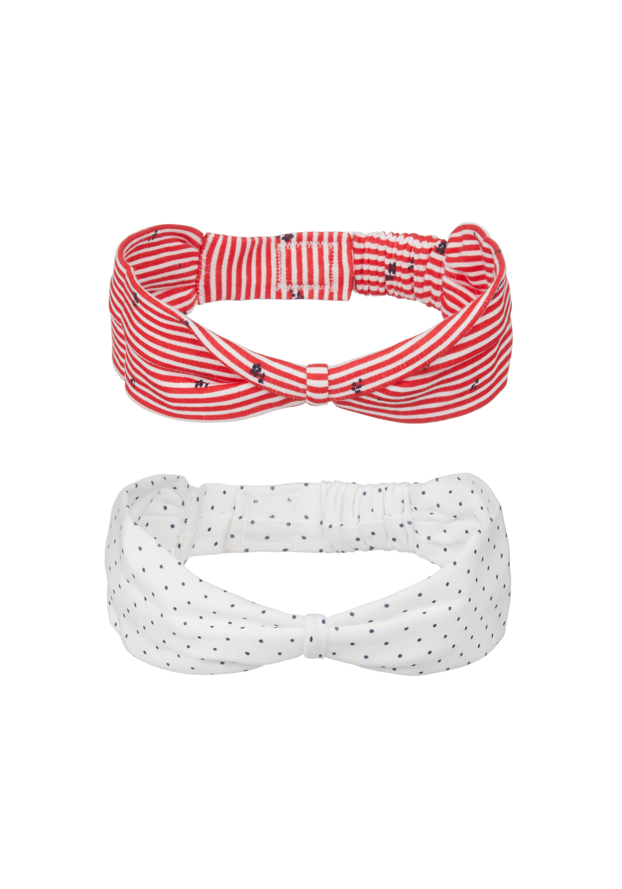 Mothercare | Girls Headbands Striped And Printed - Pack Of 2 - Multicolor