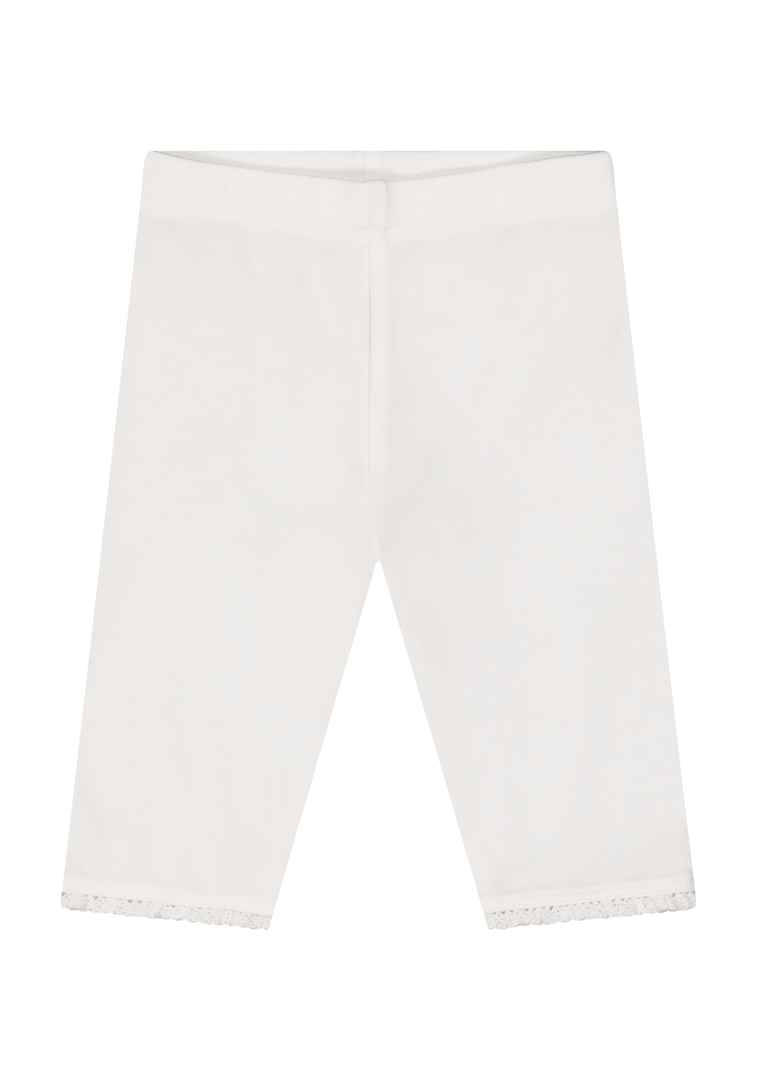 Mothercare   Girls Cropped Leggings Lace Detail - White