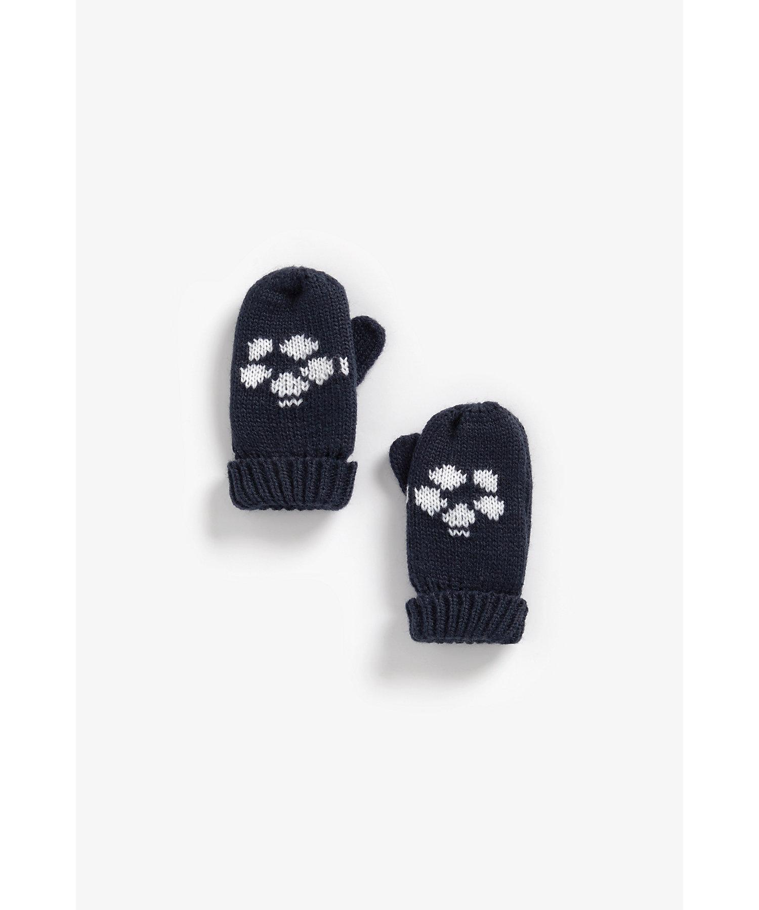 Mothercare | Boys Gloves Football Design - Navy
