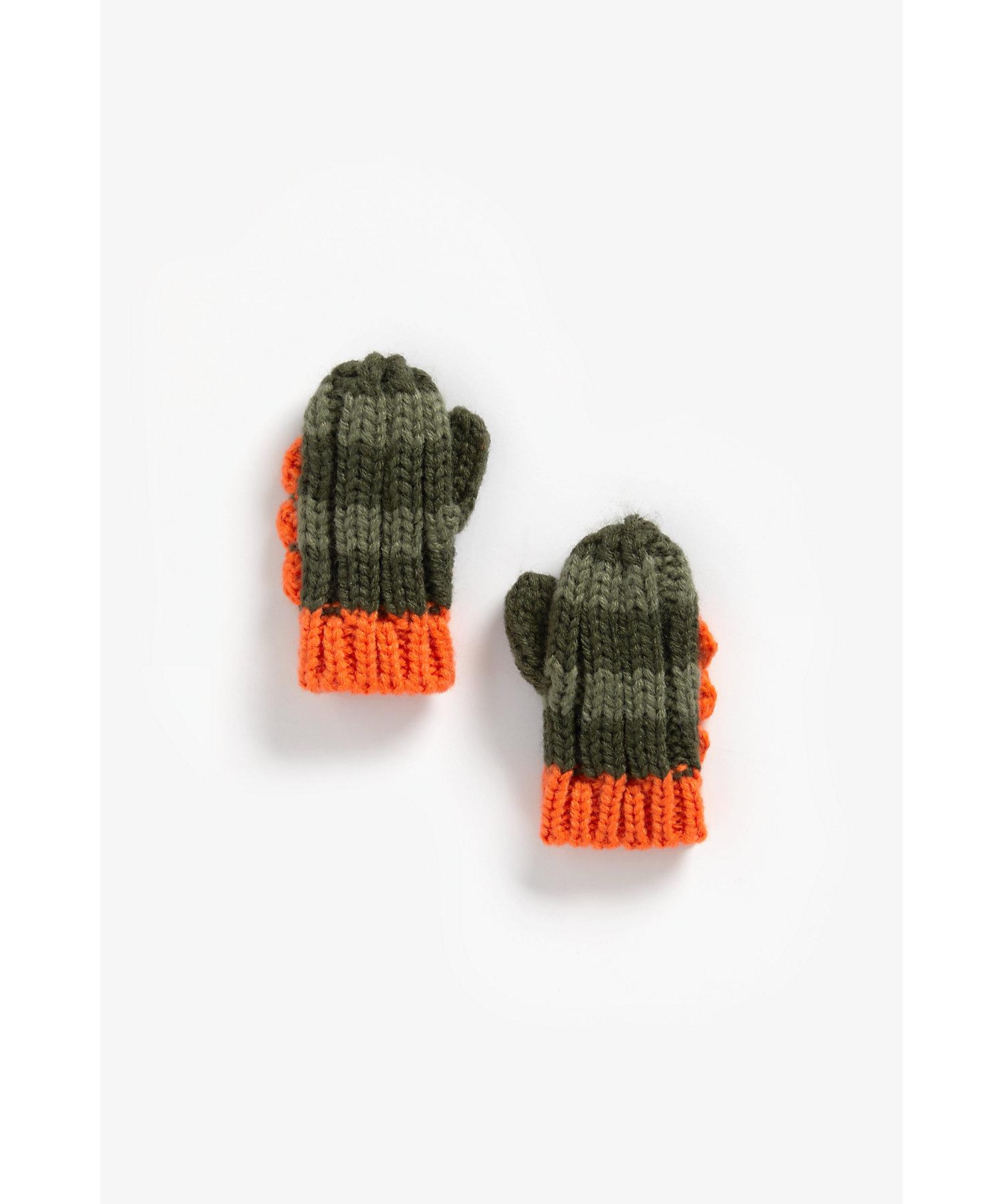 Mothercare   Boys Gloves Dino Spikes - Khaki