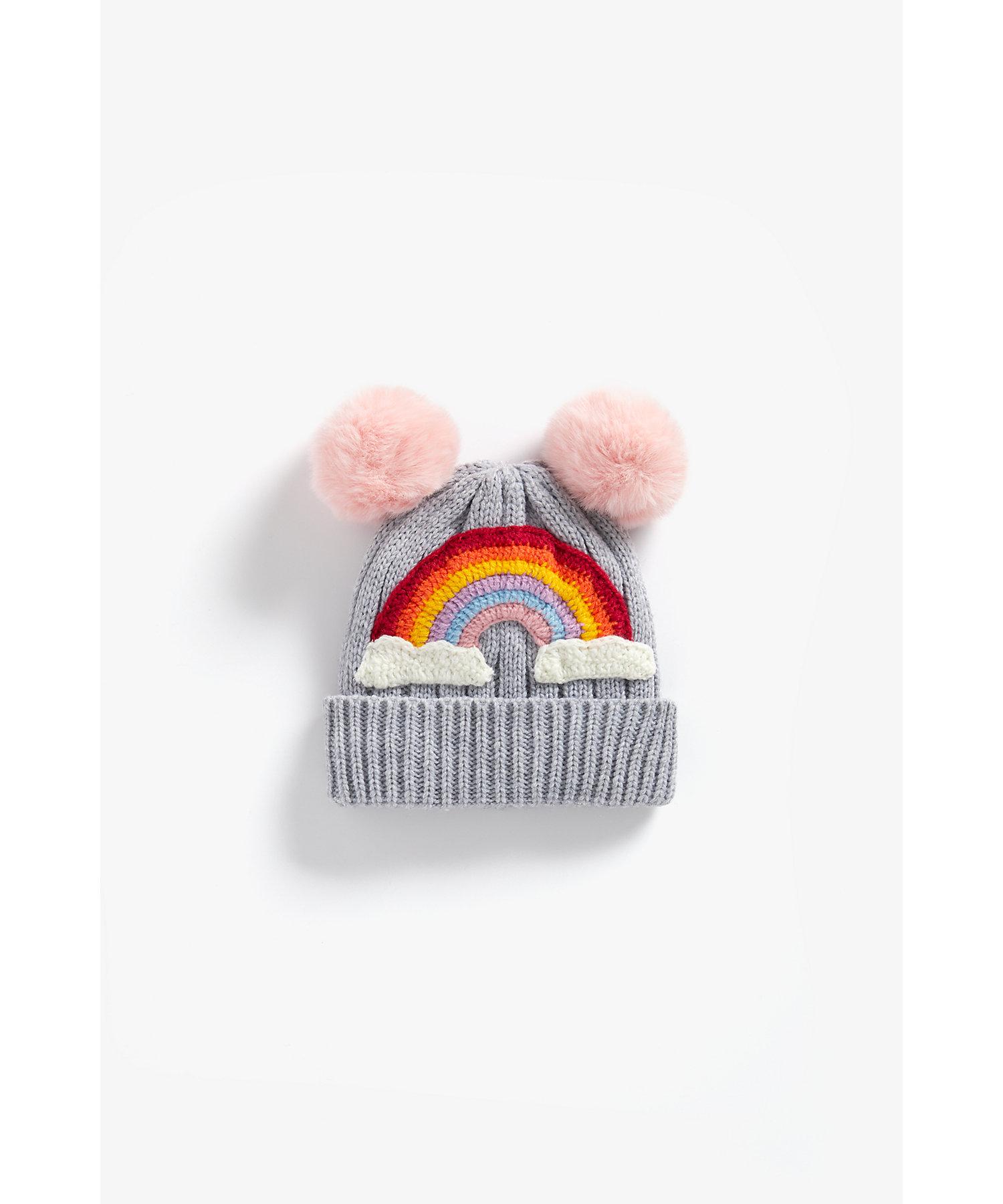 Mothercare | Girls Beanie Rainbow Design - Grey