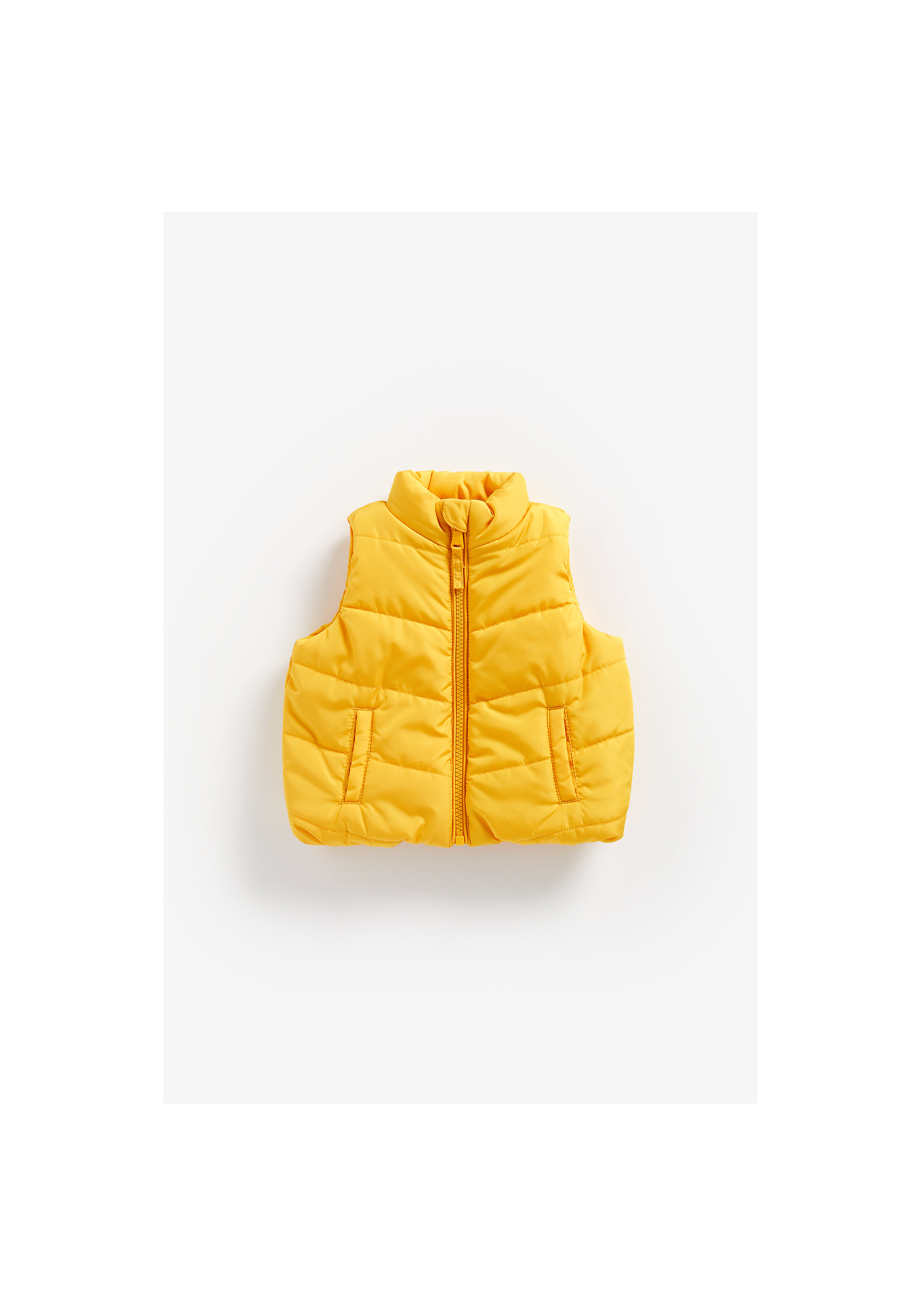 Mothercare | Boys Sleeveless Quilted Jacket - Yellow