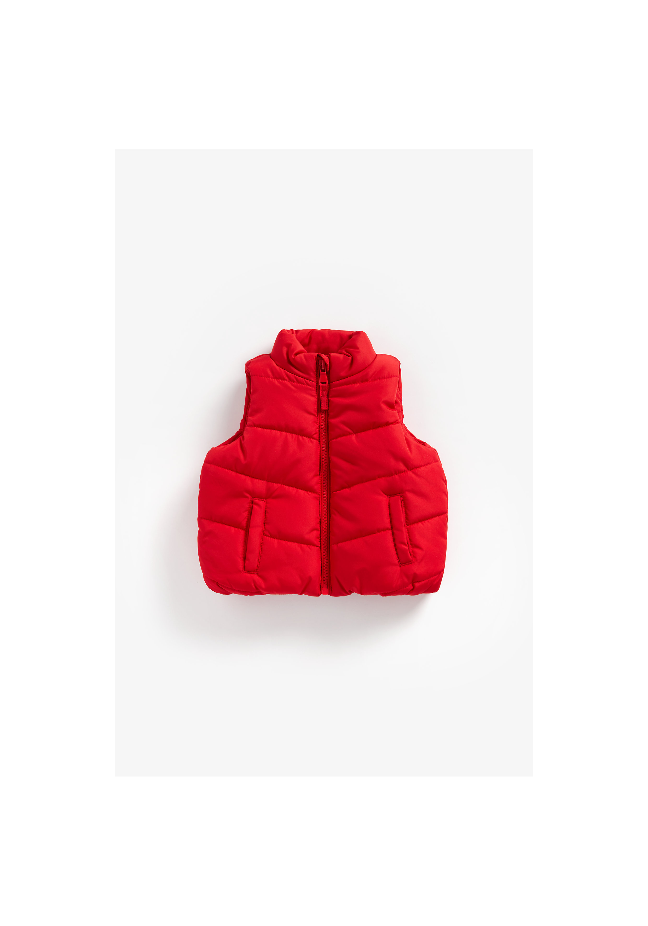 Mothercare | Boys Sleeveless Quilted Jacket - Red